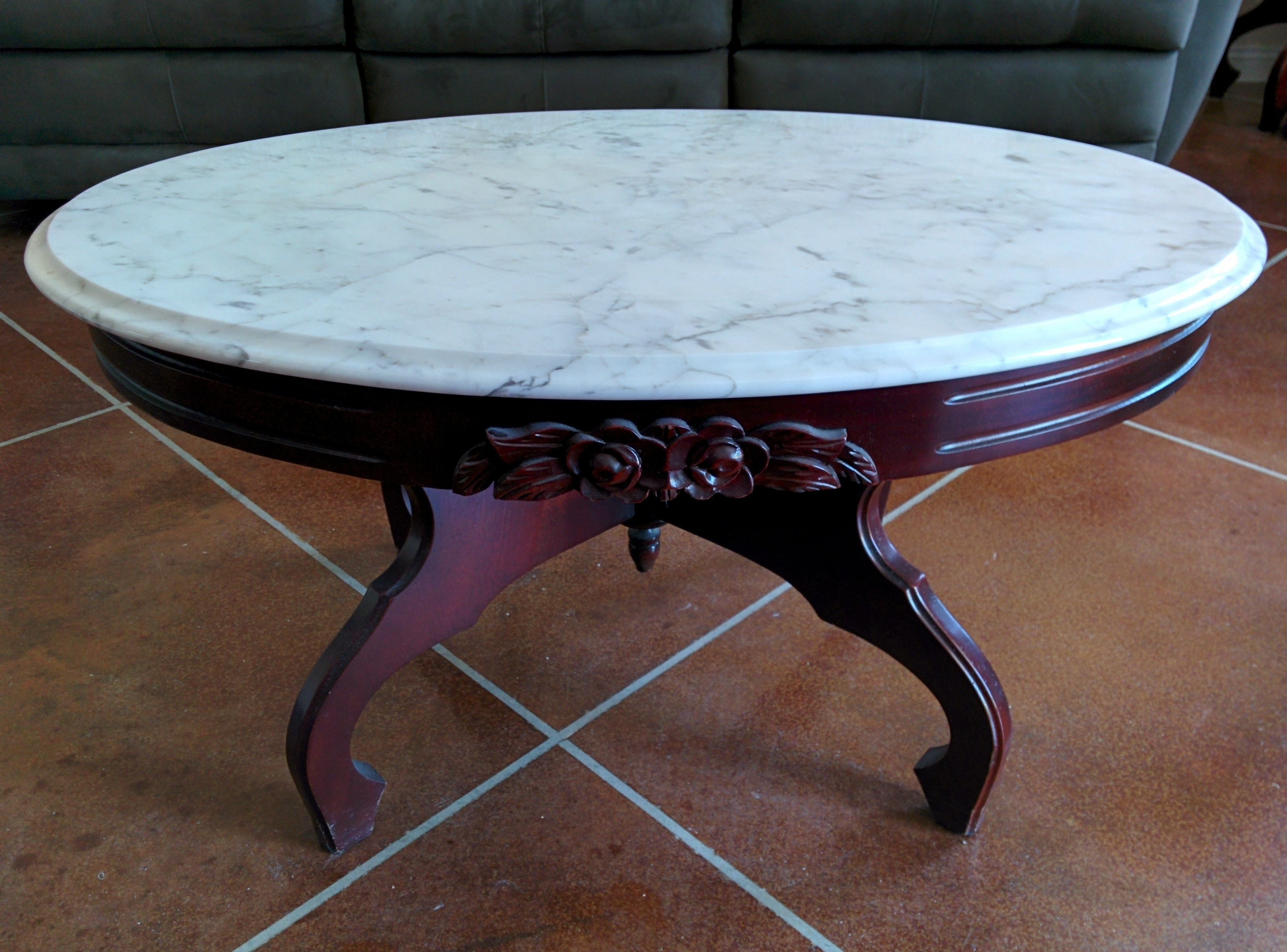 Collection In Oval Marble Coffee Table With Coffee Table Smart Round With Well Known Smart Round Marble Brass Coffee Tables (View 3 of 20)