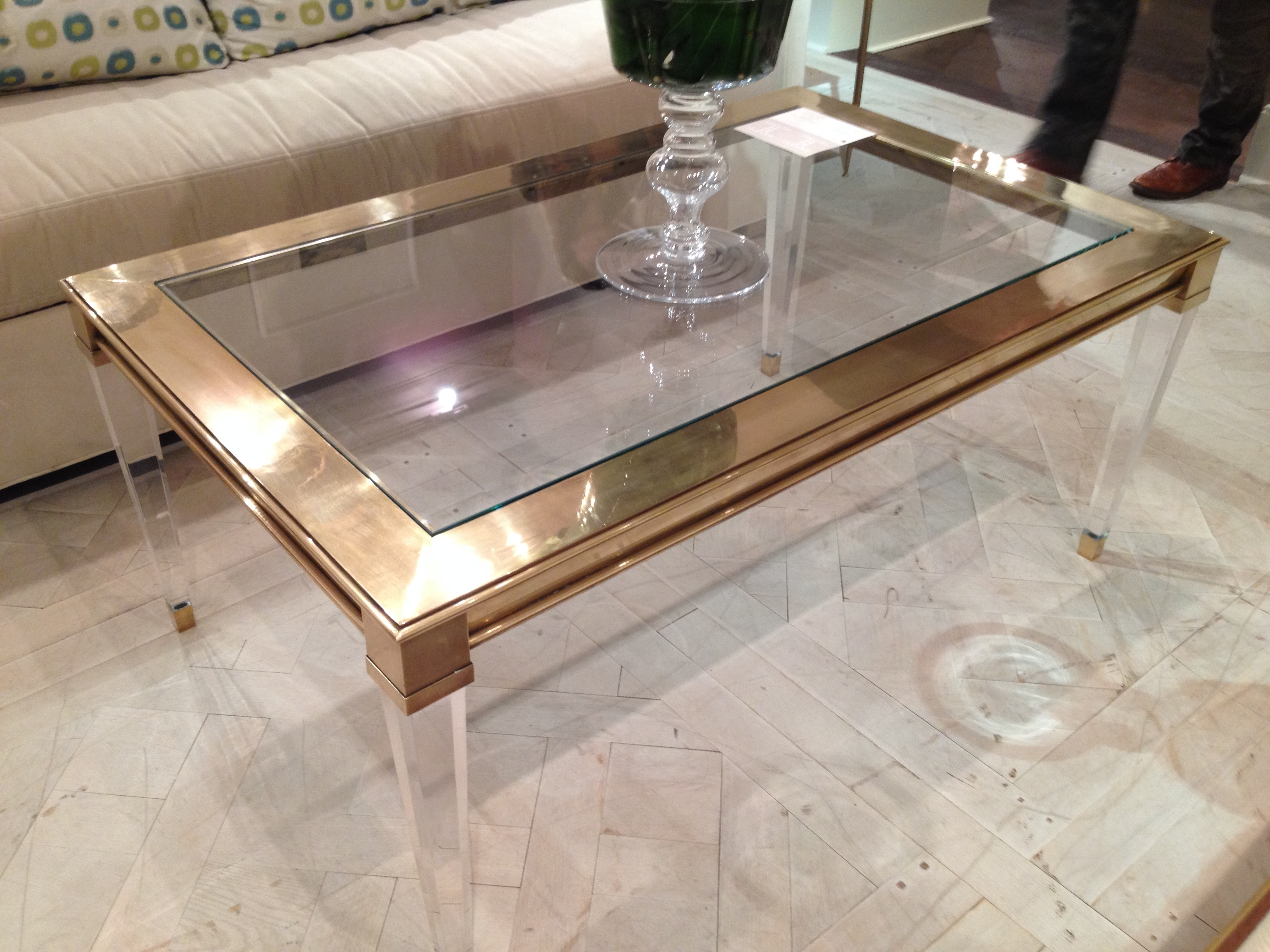 Collection In Plexiglass Coffee Table With Coffee Table Example For Widely Used Acrylic Glass And Brass Coffee Tables (View 19 of 20)