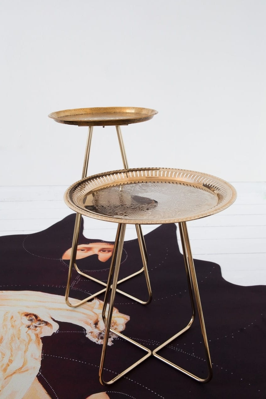 Contemporary Bedside Table / Steel / Brass / Chromed Metal – New In Most Popular Casablanca Coffee Tables (View 5 of 20)