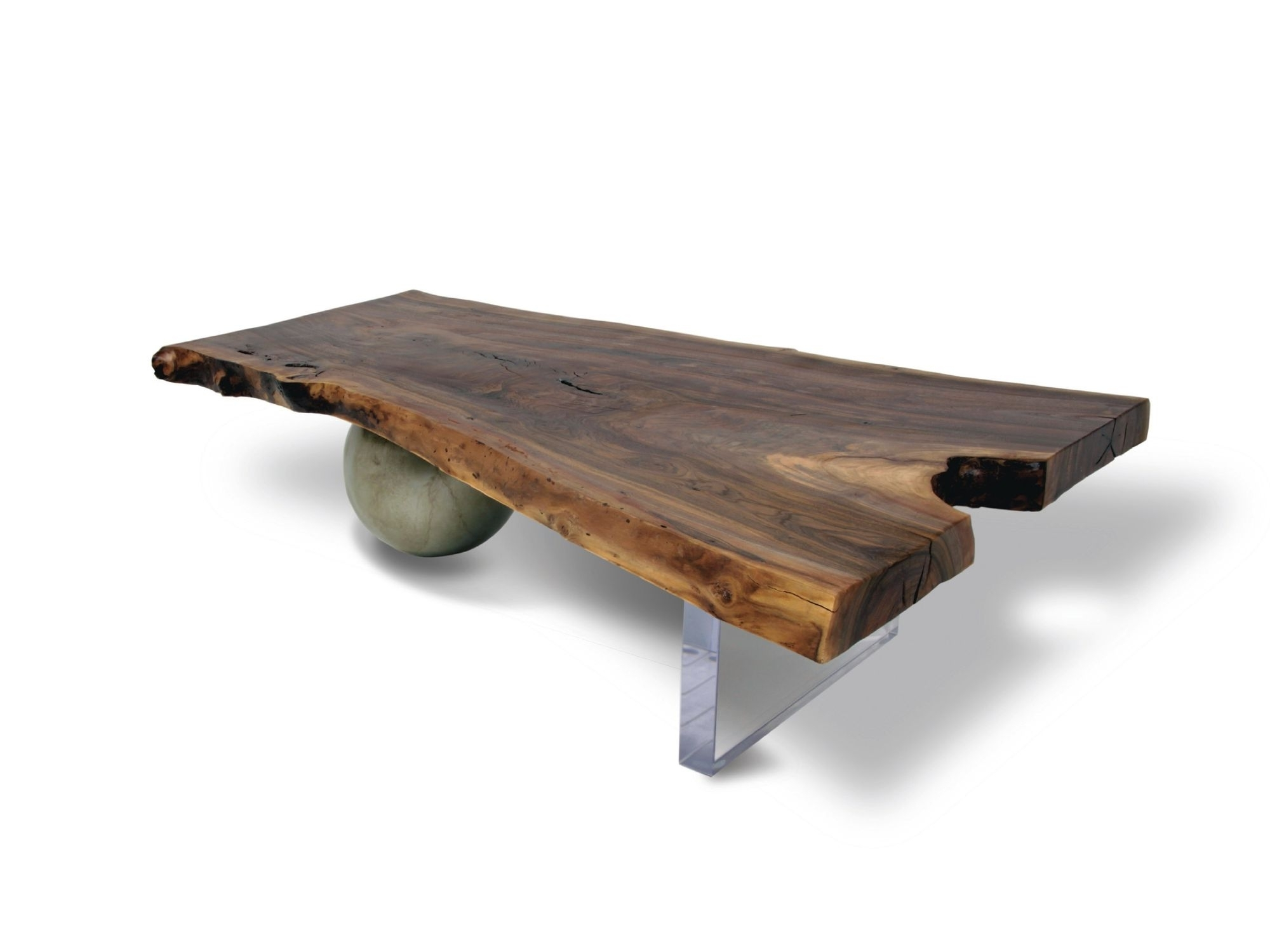 Contemporary Coffee Table / Wooden / In Reclaimed Material – Walnut With Most Popular Waxed Metal Coffee Tables (View 4 of 20)