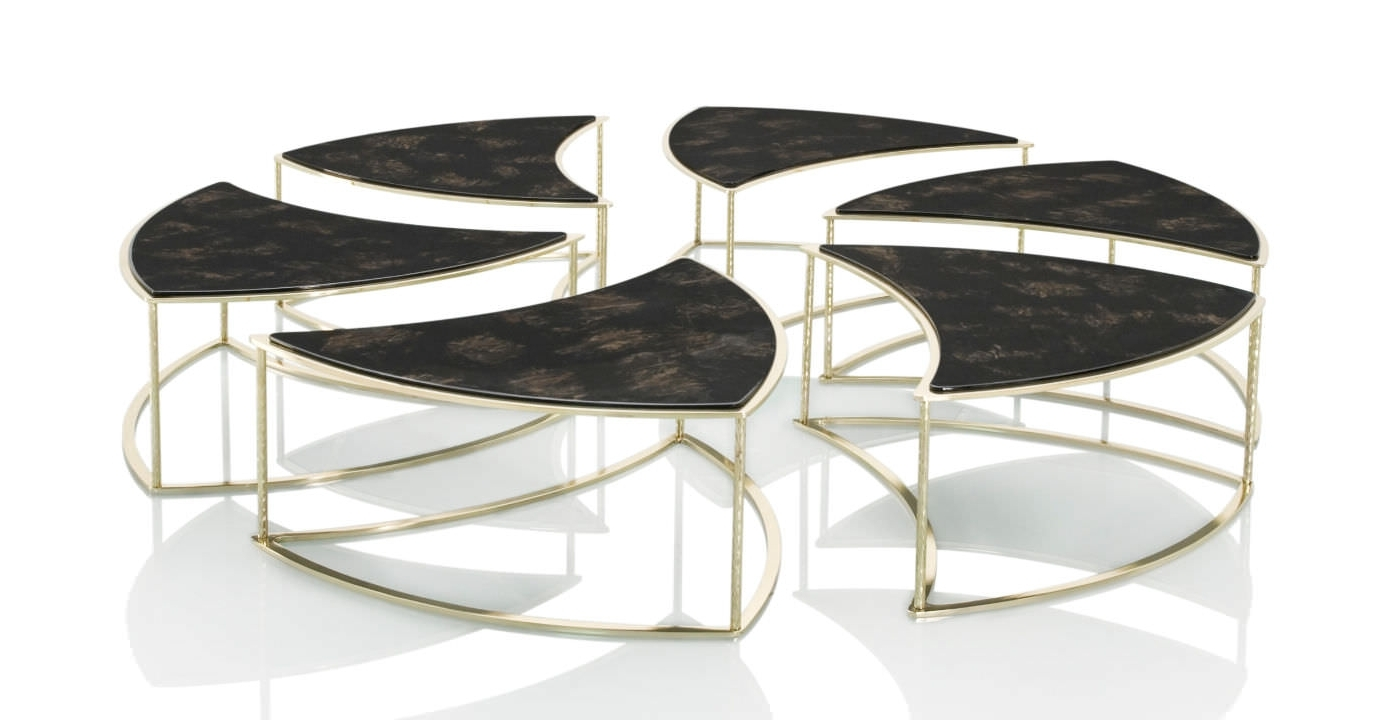 Contemporary Coffee Table / Wooden / Round / Modular – Telemaque Intended For Trendy Modular Coffee Tables (View 3 of 20)