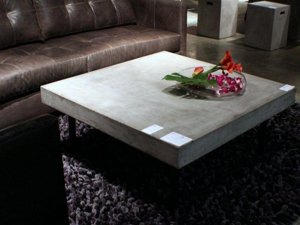 Contemporary Concrete Coffee Table — The New Way Home Decor Pertaining To Preferred Element Coffee Tables (View 6 of 20)