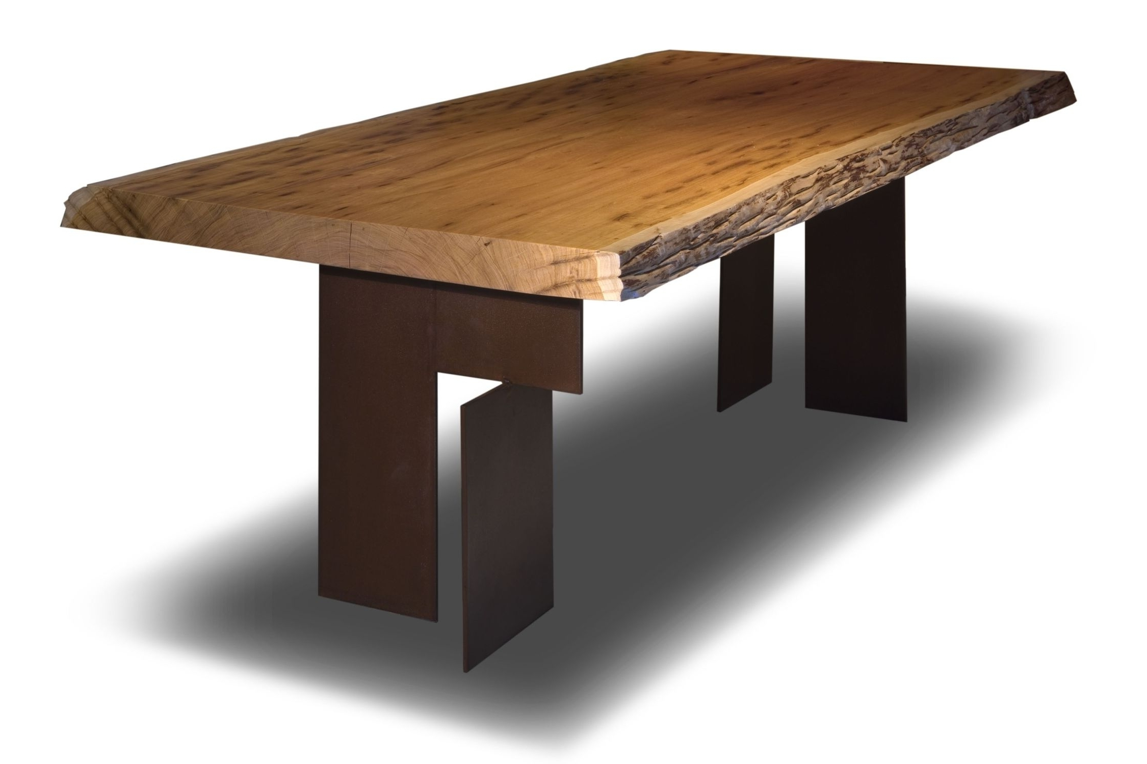 Contemporary Table / Wooden / Rectangular / In Reclaimed Material Within Well Known Reclaimed Elm Cast Iron Coffee Tables (View 5 of 20)