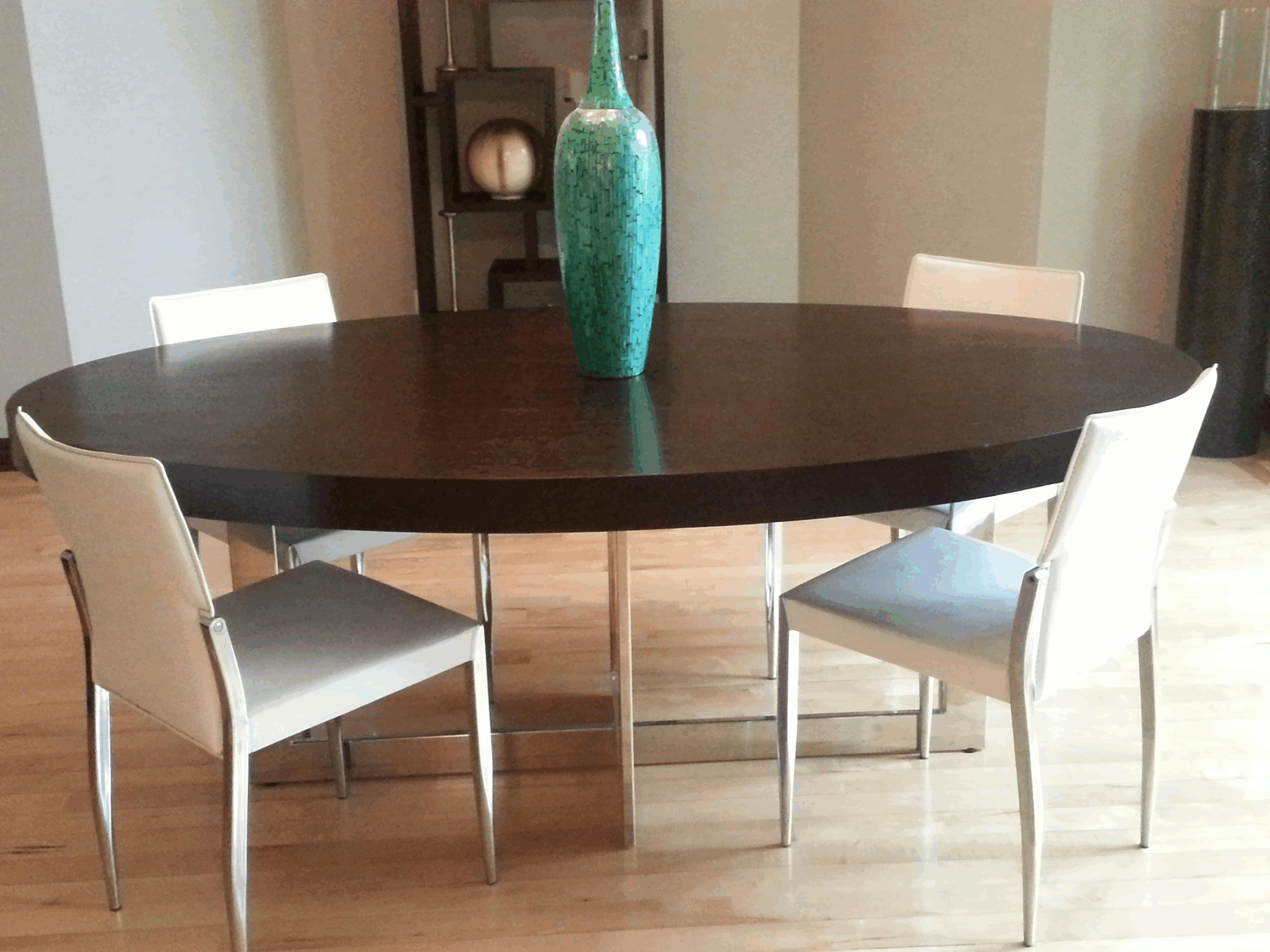 Contemporary Wood Dining Chairs Large Brown Varnished Wooden Display Intended For Best And Newest Batik Coffee Tables (View 9 of 20)