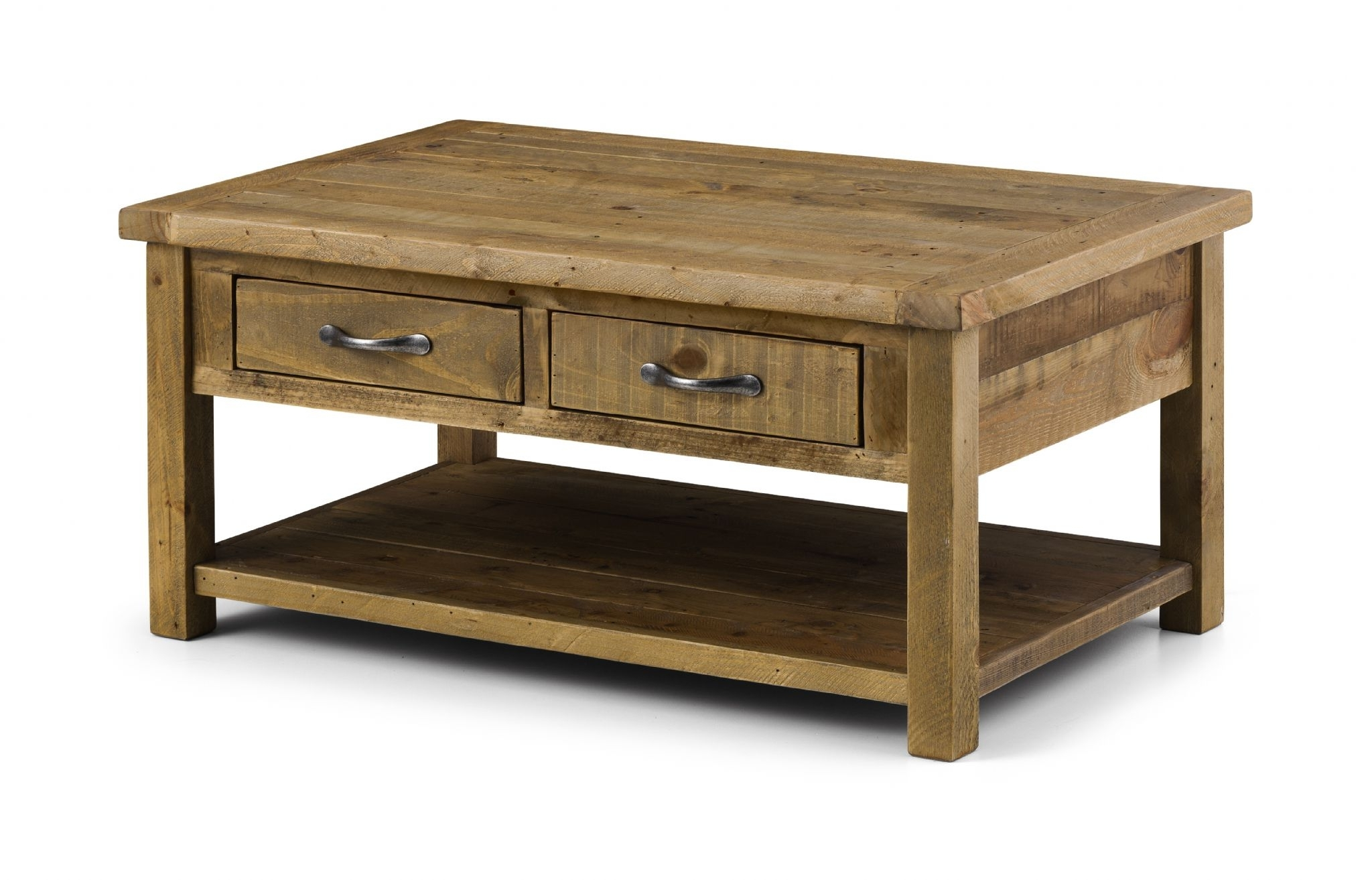 Cordoba Solid Reclaimed Pine Coffee Table With 2 Drawers Jb36 Throughout Current Reclaimed Pine Coffee Tables (View 10 of 20)