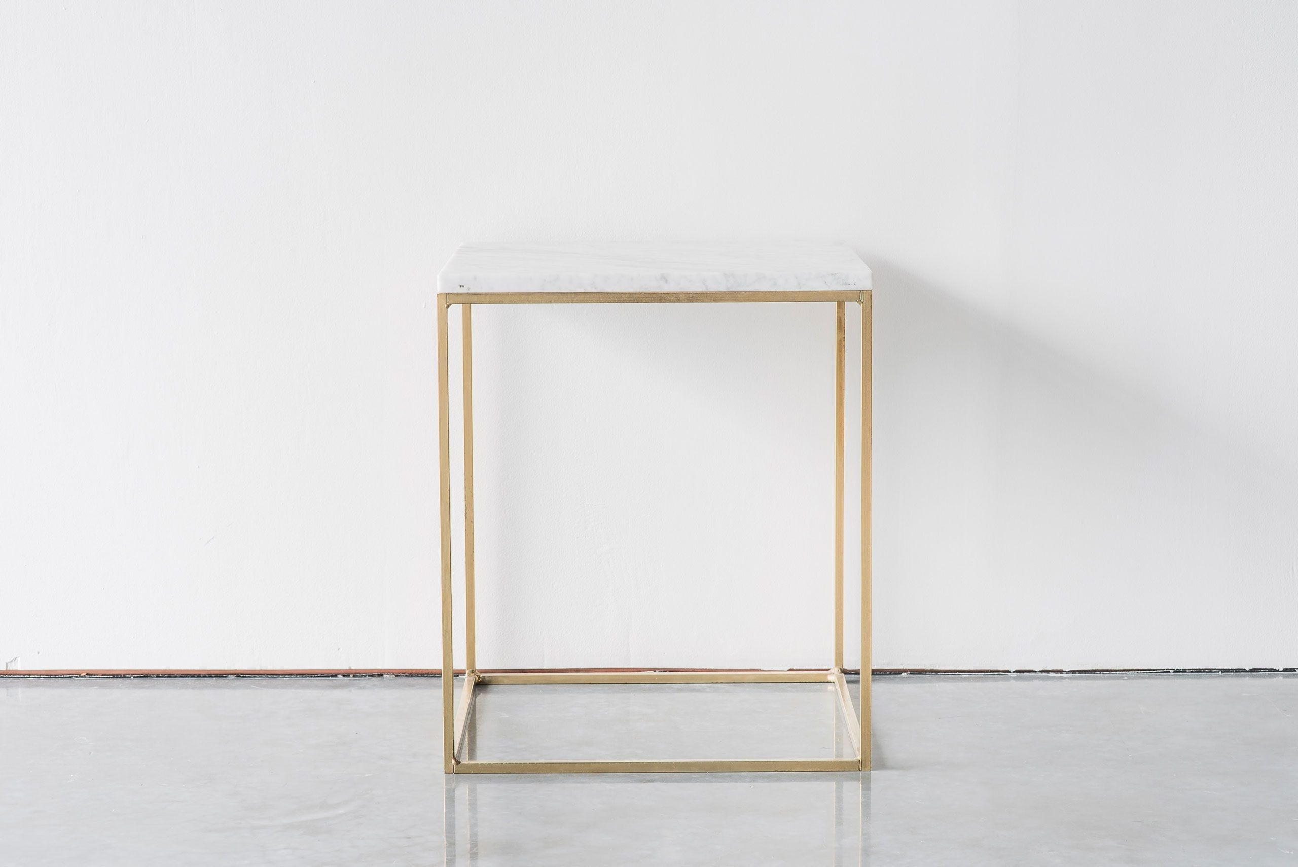 Cube Side Table Short Brass (View 9 of 20)