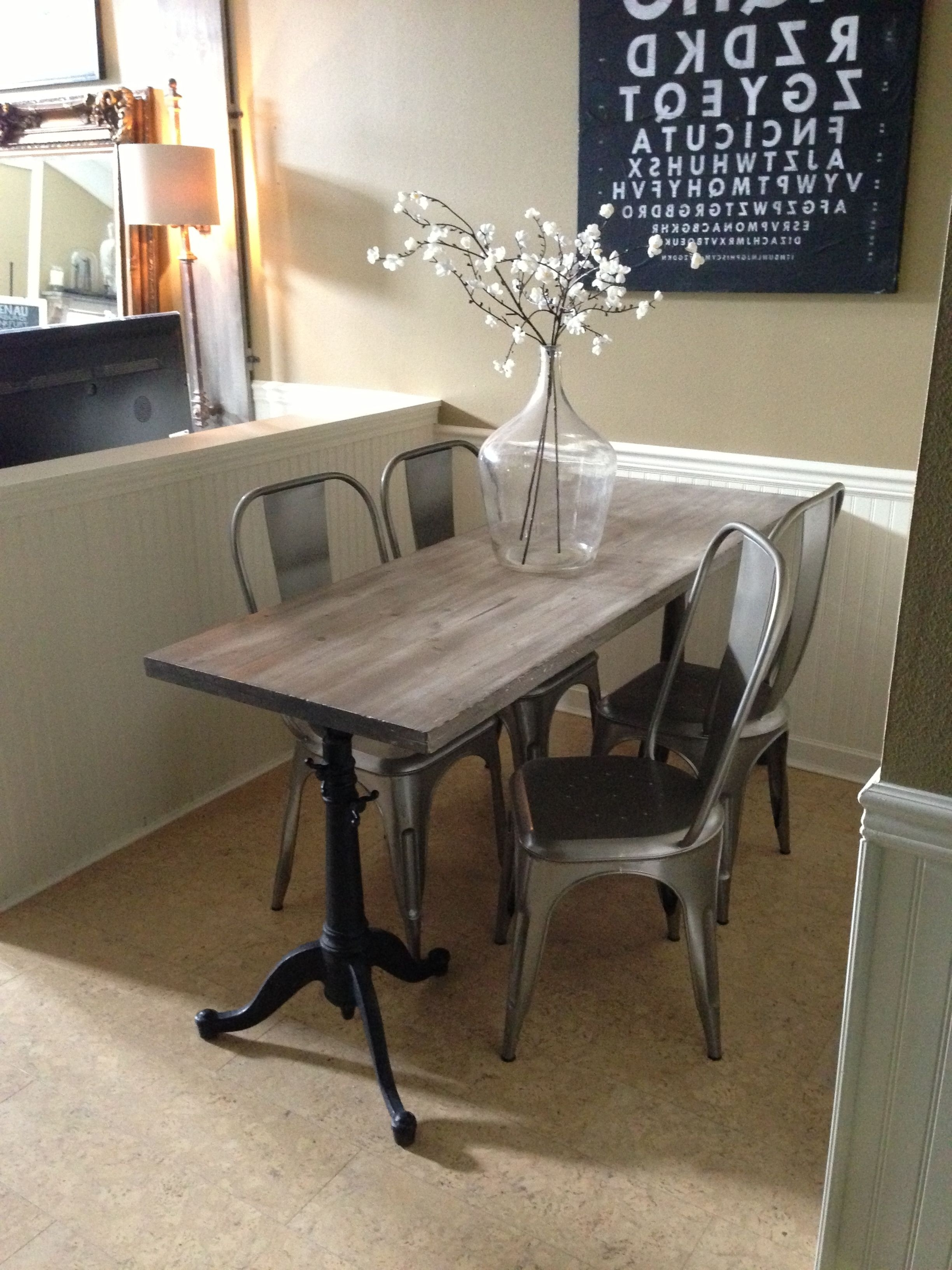 Current 33 Inch Industrial Round Tables In Narrow Dining Table For Narrow Space (View 3 of 20)