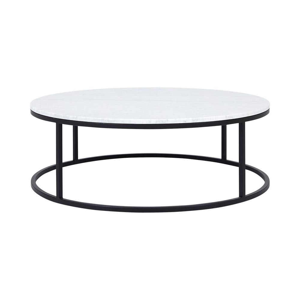 Current Alcide Rectangular Marble Coffee Tables Throughout New Marble Coffee Table Within Rosa Modern Black Brushed Gold (View 1 of 20)