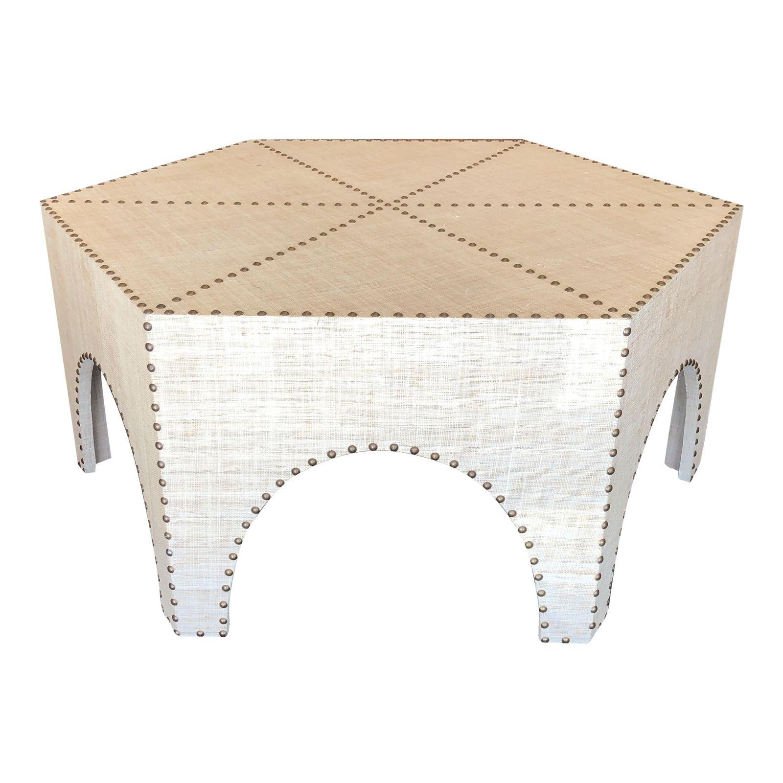 Current Casablanca Coffee Tables Within New Palecek Casablanca Raffia Coffee Table – Design Plus Gallery (View 7 of 20)