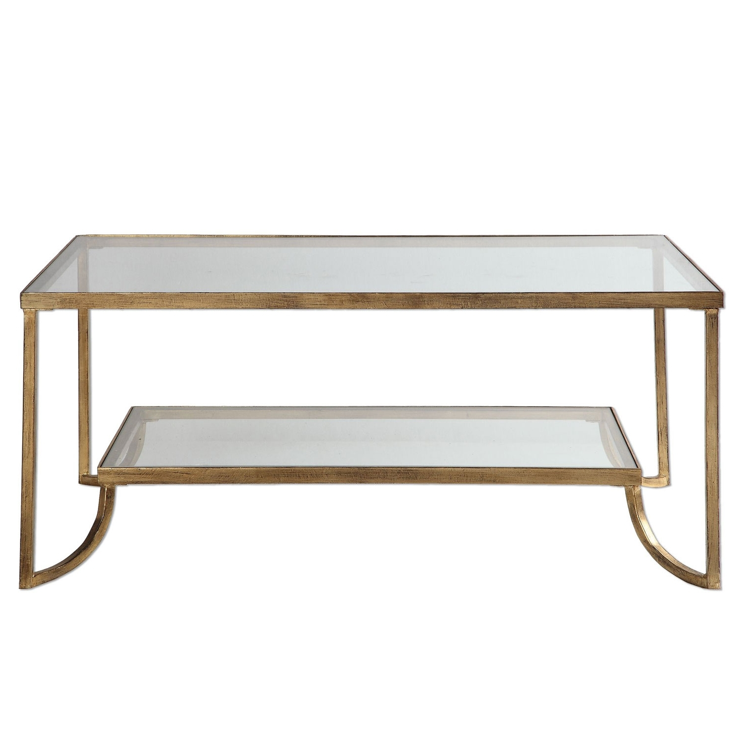 Current Gold Leaf Collection Coffee Tables Pertaining To Uttermost Katina Gold Leaf Coffee Table (View 7 of 20)