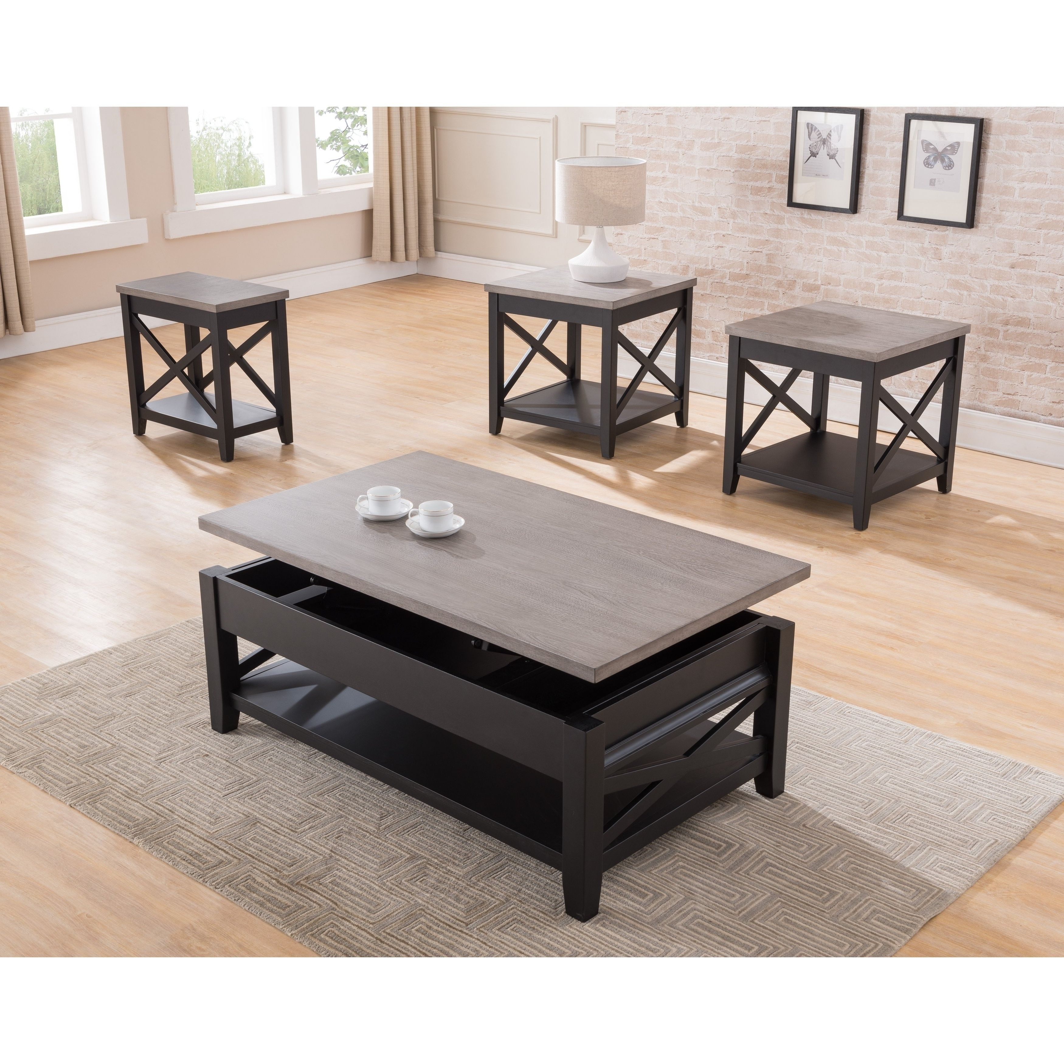 Current Grant Lift Top Cocktail Tables With Casters With Shop Simmons Casegoods Black And Grey Lift Top Cocktail Table – Free (View 7 of 20)