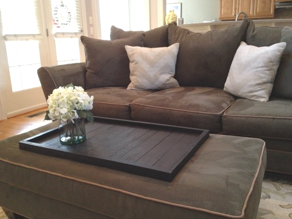 Current Mill Large Leather Coffee Tables Intended For Stylish Oversized Ottoman Tray (View 5 of 20)