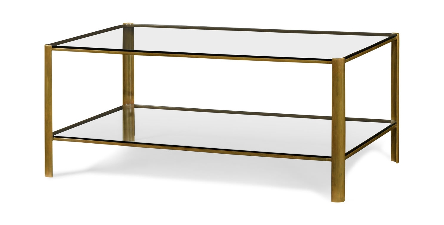 Featured Photo of Rectangular Coffee Tables With Brass Legs