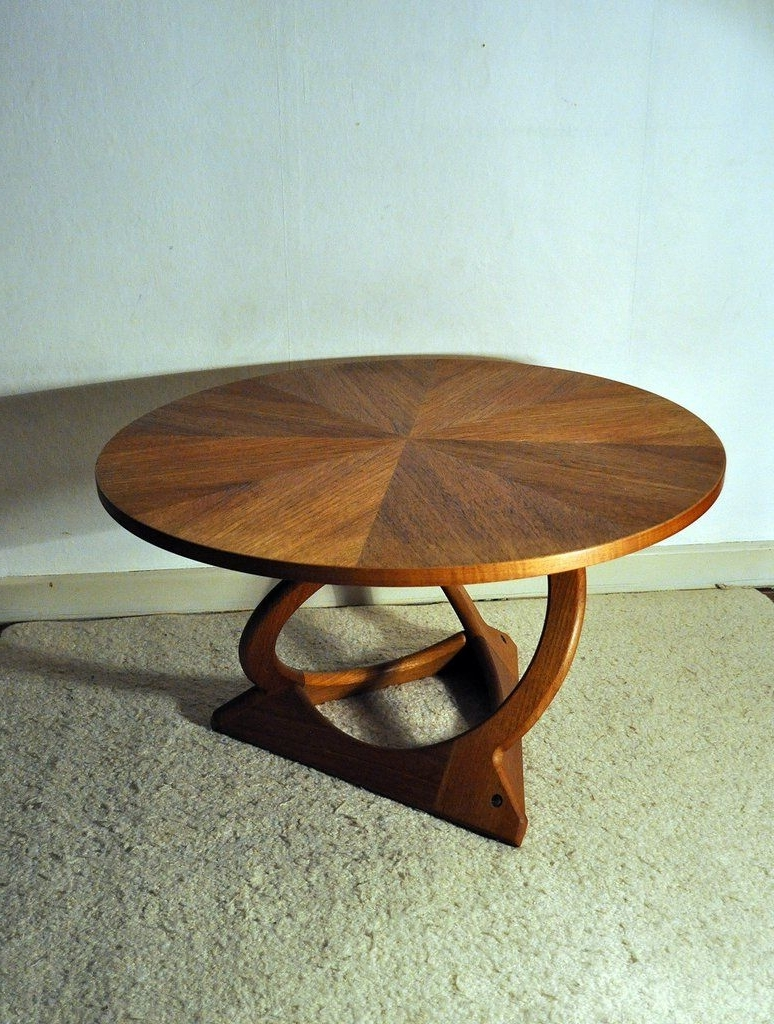 Current Round Teak Coffee Tables Pertaining To Rare Kubus Round Teak Coffee Table(Holger) Georg Jensen (View 3 of 20)