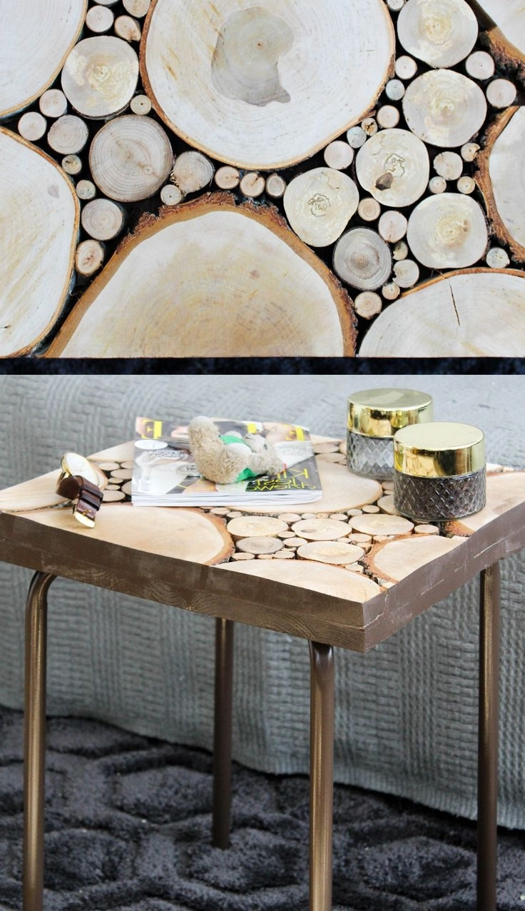 Current Sliced Trunk Coffee Tables With Regard To This Wooden Coffee Table Is Made Of Small And Big Tree Trunk Slices (View 5 of 20)
