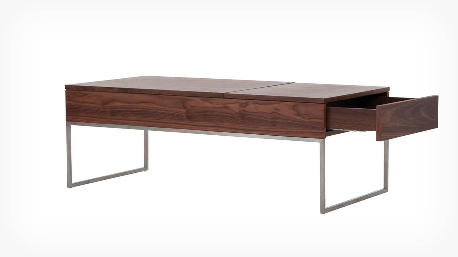 Current Walnut Finish 6 Drawer Coffee Tables For Scout Functional Coffee Table (View 4 of 20)