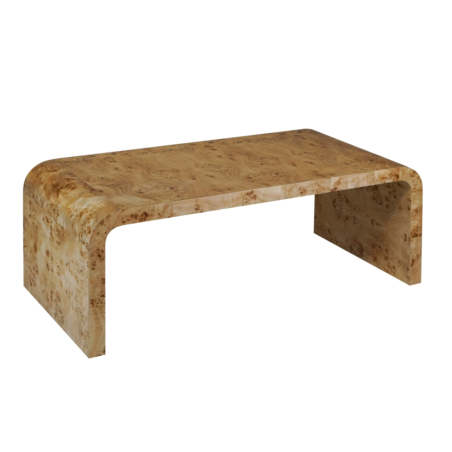 Current Waterfall Coffee Tables Within Waterfall Burlwood Coffee Table – Shop Burlwood Furniture – Dear Keaton (View 14 of 20)