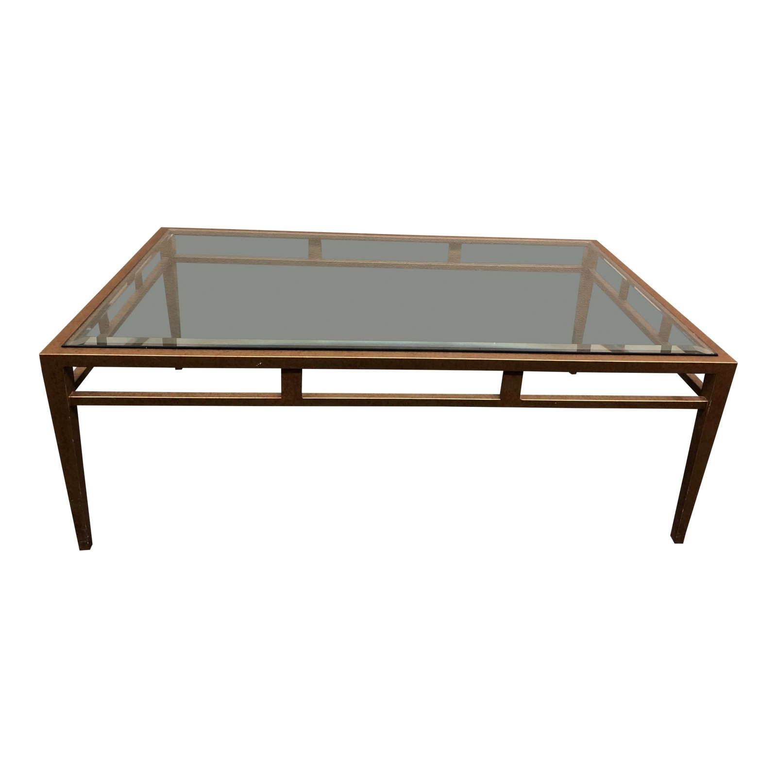 Custom Brass Finish Coffee Table. Original Price: $3, (View 5 of 20)