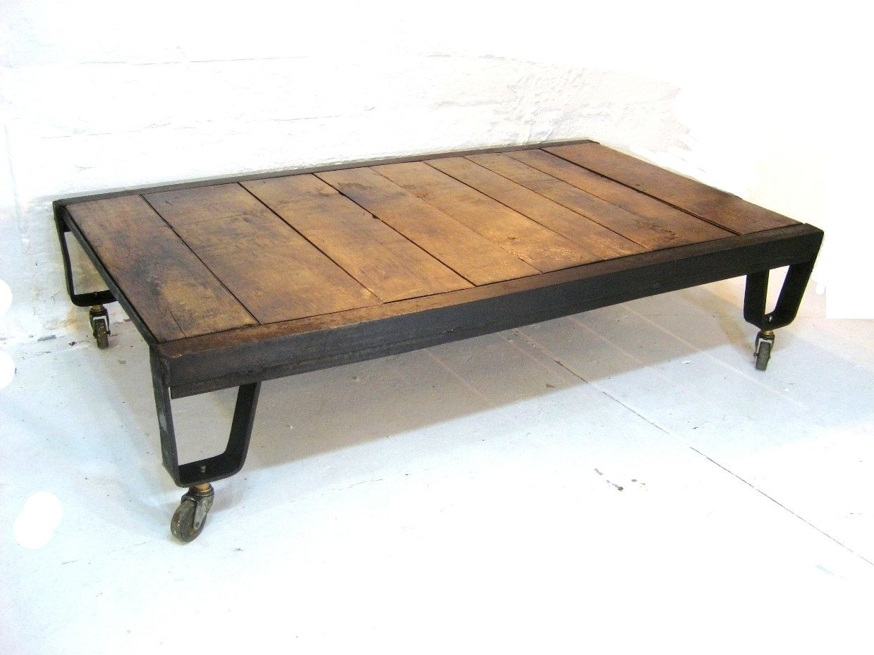 Custom Foundry Table With Casterssaltbreaker Studio (View 4 of 20)