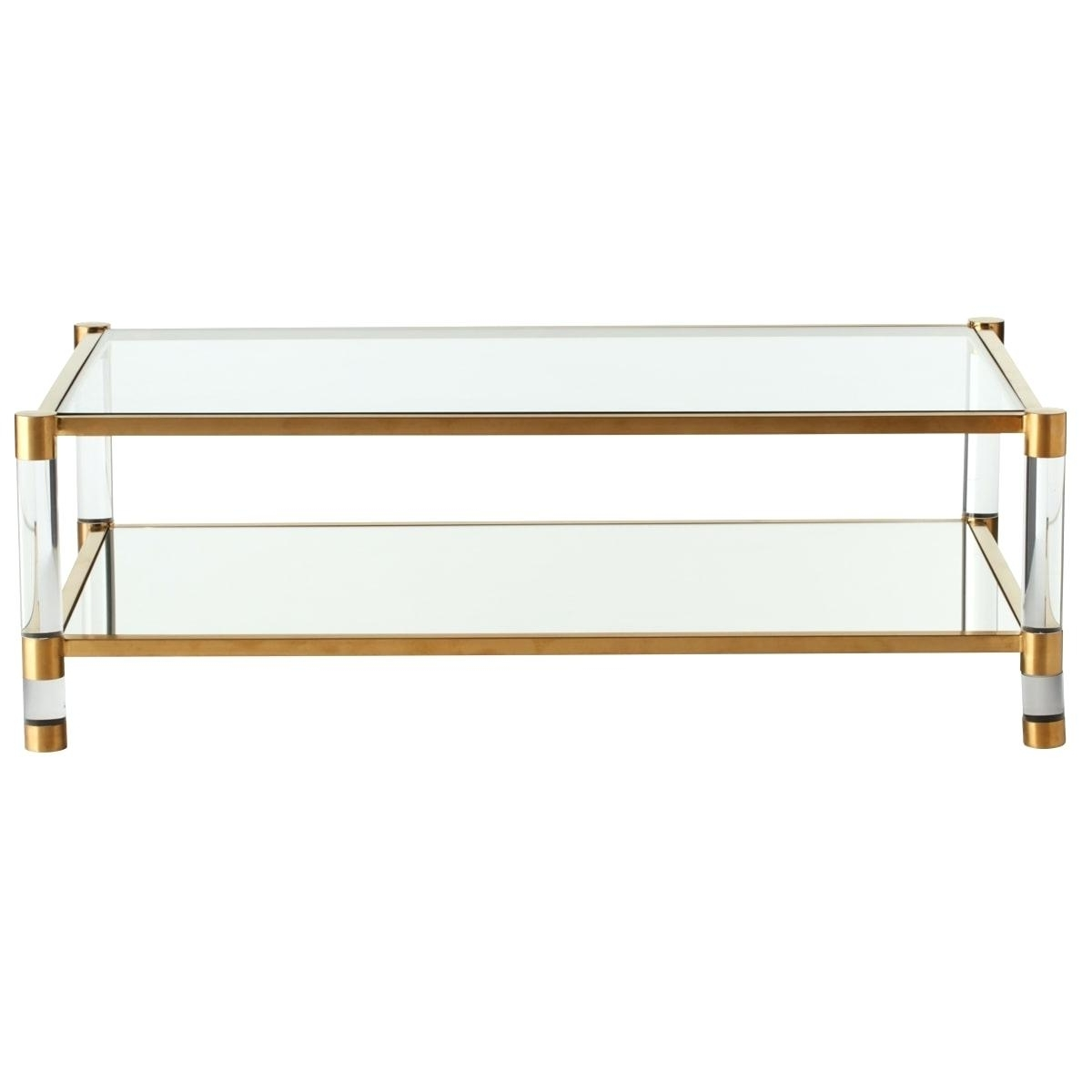 Decoration: Acrylic Glass And Brass Coffee Table Or (View 15 of 20)