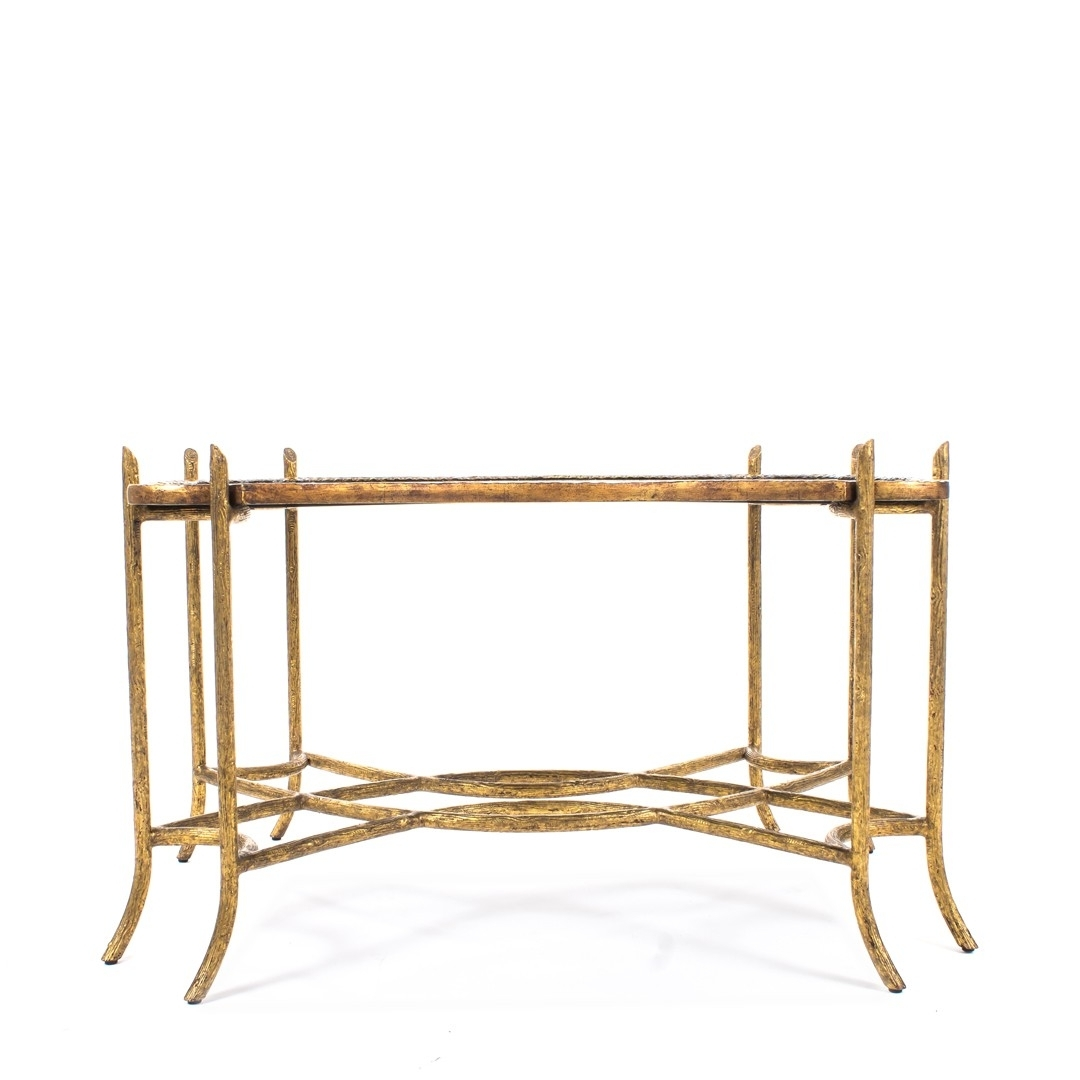 Dennis & Leen Chinoiserie Coffee Table W/antiqued Gold Faux Bois With Most Popular Faux Bois Coffee Tables (View 2 of 20)