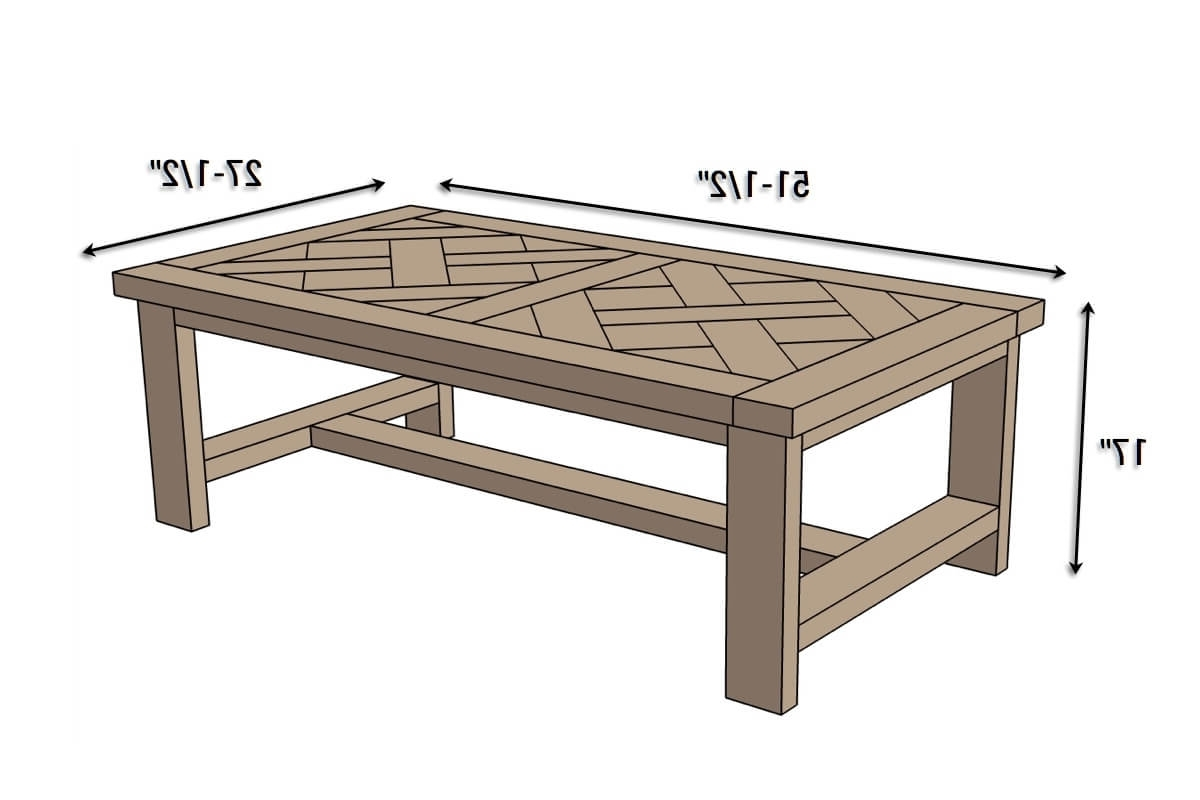 Diy Parquet Coffee Table { Free Plans } Rogue Engineer With Regard To Newest Parquet Coffee Tables (View 3 of 20)