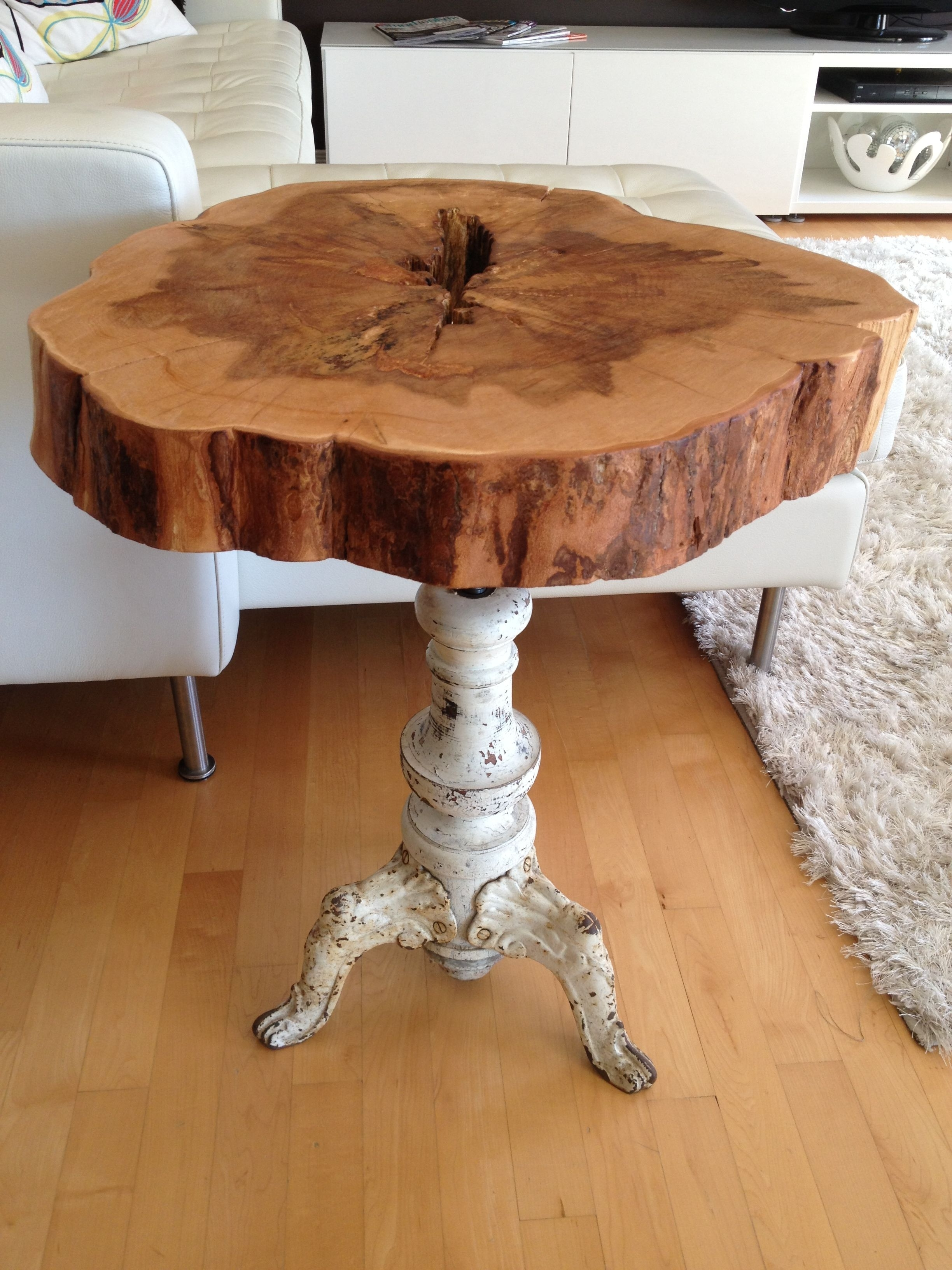 ~diy Tree Stump Intended For Well Known Recycled Pine Stone Side Tables (View 9 of 20)