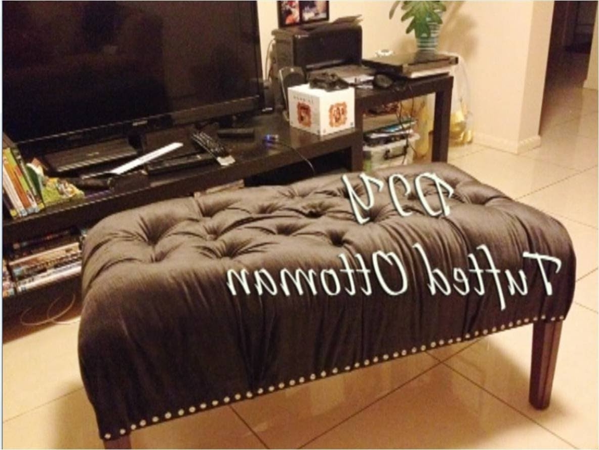 Diy Tufted Ottoman Bench – Youtube Throughout Most Current Button Tufted Coffee Tables (View 19 of 20)