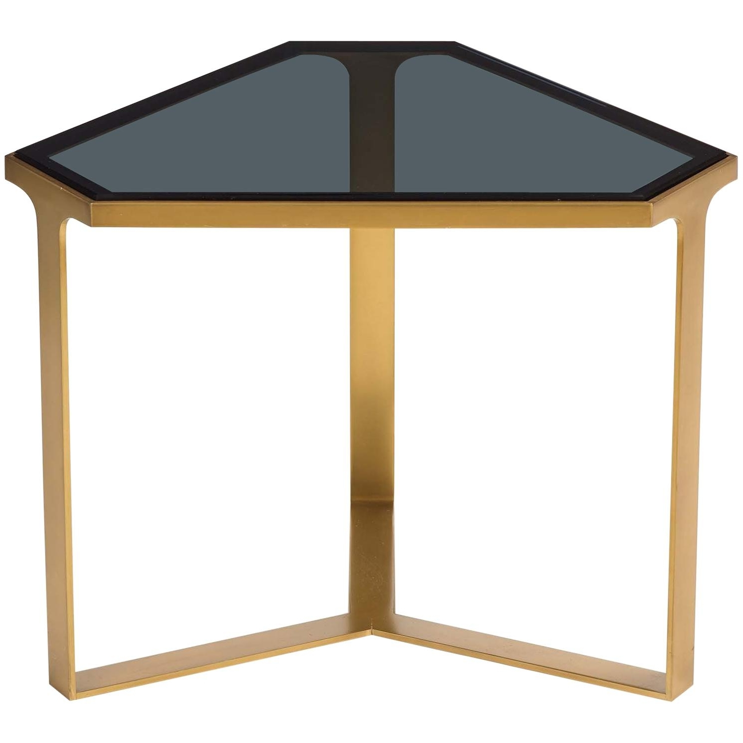 Donghia Forma Table With Satin Brass Base And Gray Glass Top For Pertaining To Most Recent Forma Cocktail Tables (View 8 of 20)