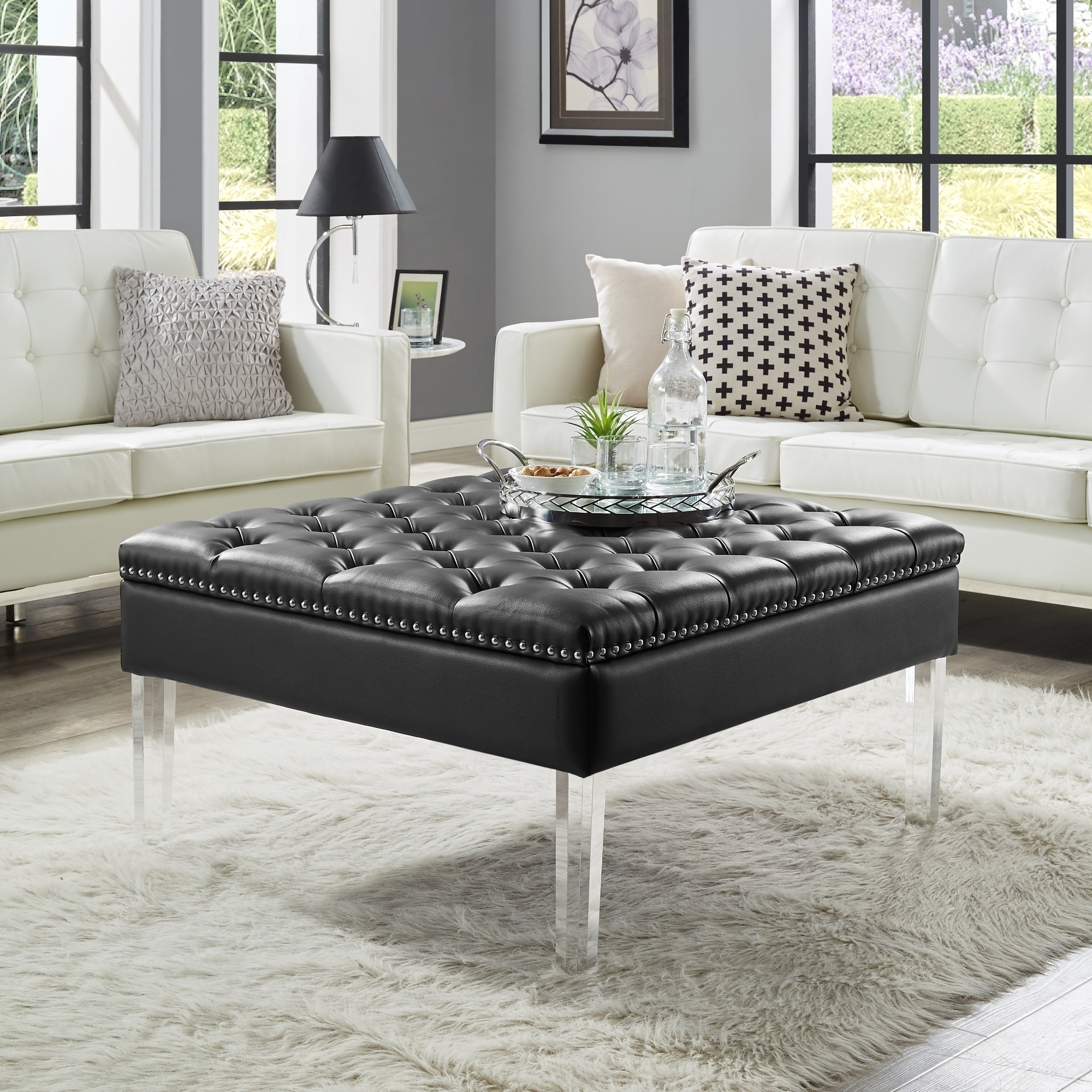 Ebay In Most Current Button Tufted Coffee Tables (Gallery 7 of 20)