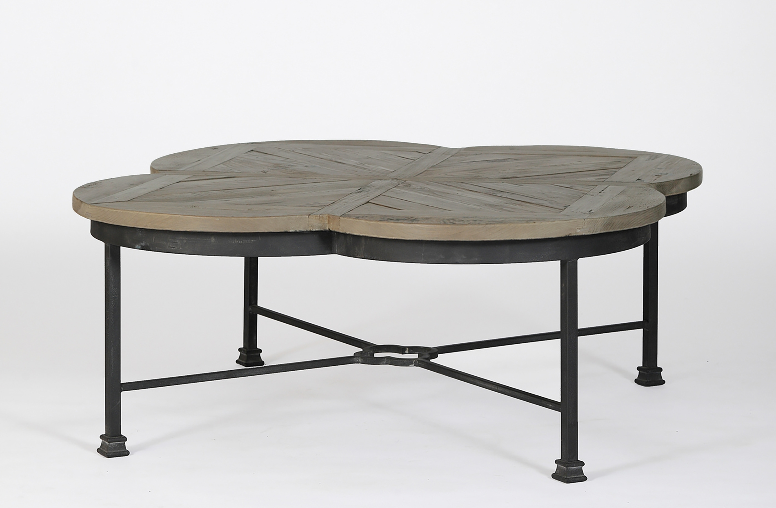 Edwin Quatrefoil Coffee Table – Gabby For Favorite Reclaimed Pine & Iron Coffee Tables (Gallery 15 of 20)