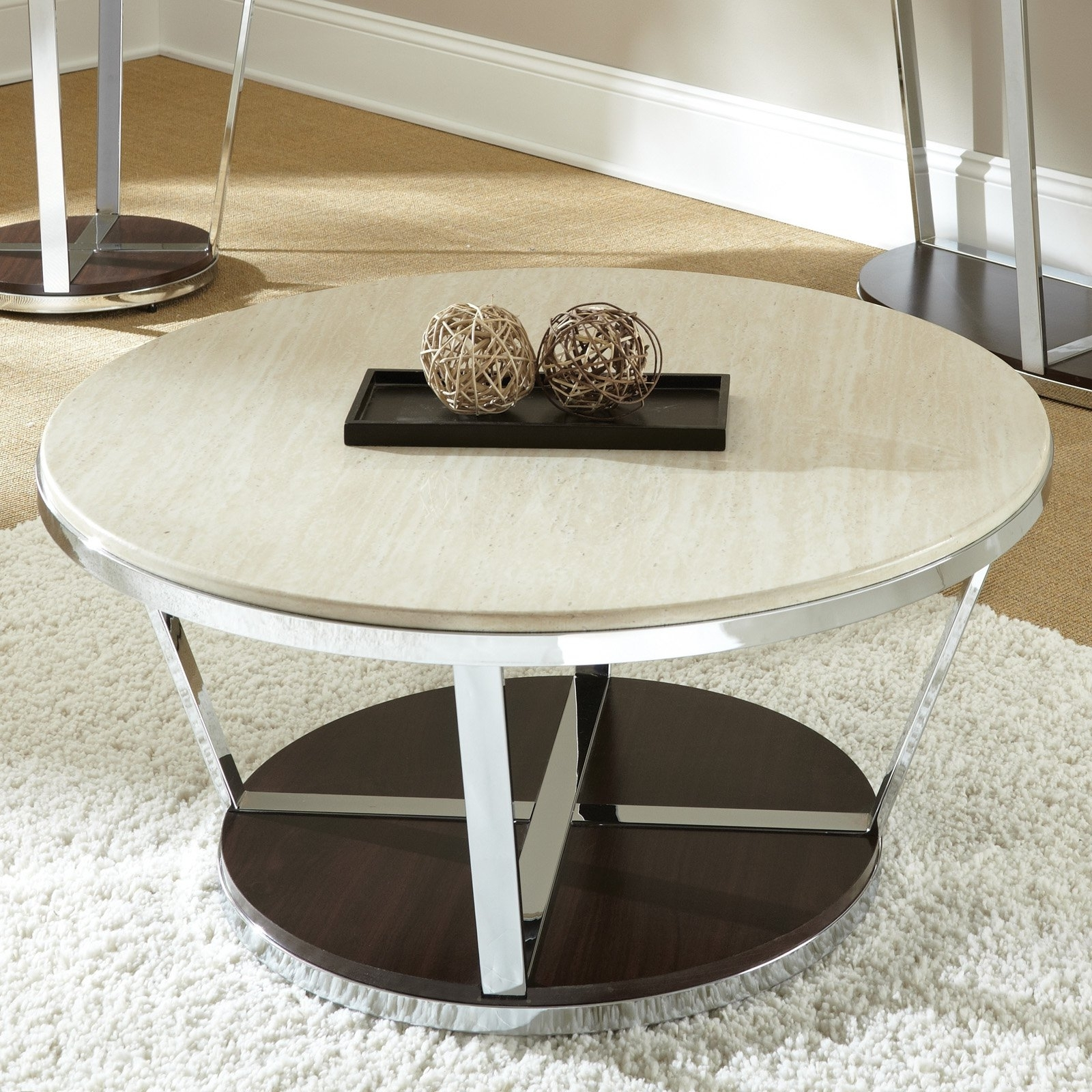 Elegant Pottery Barn Round Coffee Table With Golden Boys And Me Throughout Trendy Faux Bois Coffee Tables (View 13 of 20)