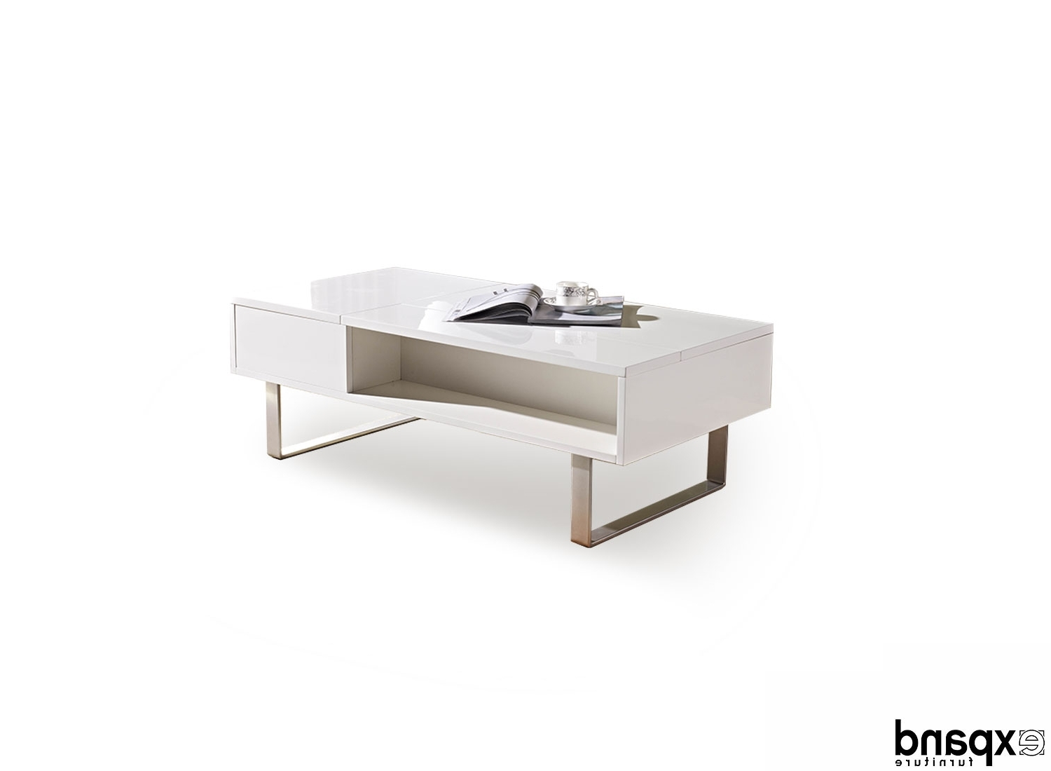 Expand Furniture Within Well Known Stack Hi Gloss Wood Coffee Tables (View 4 of 20)
