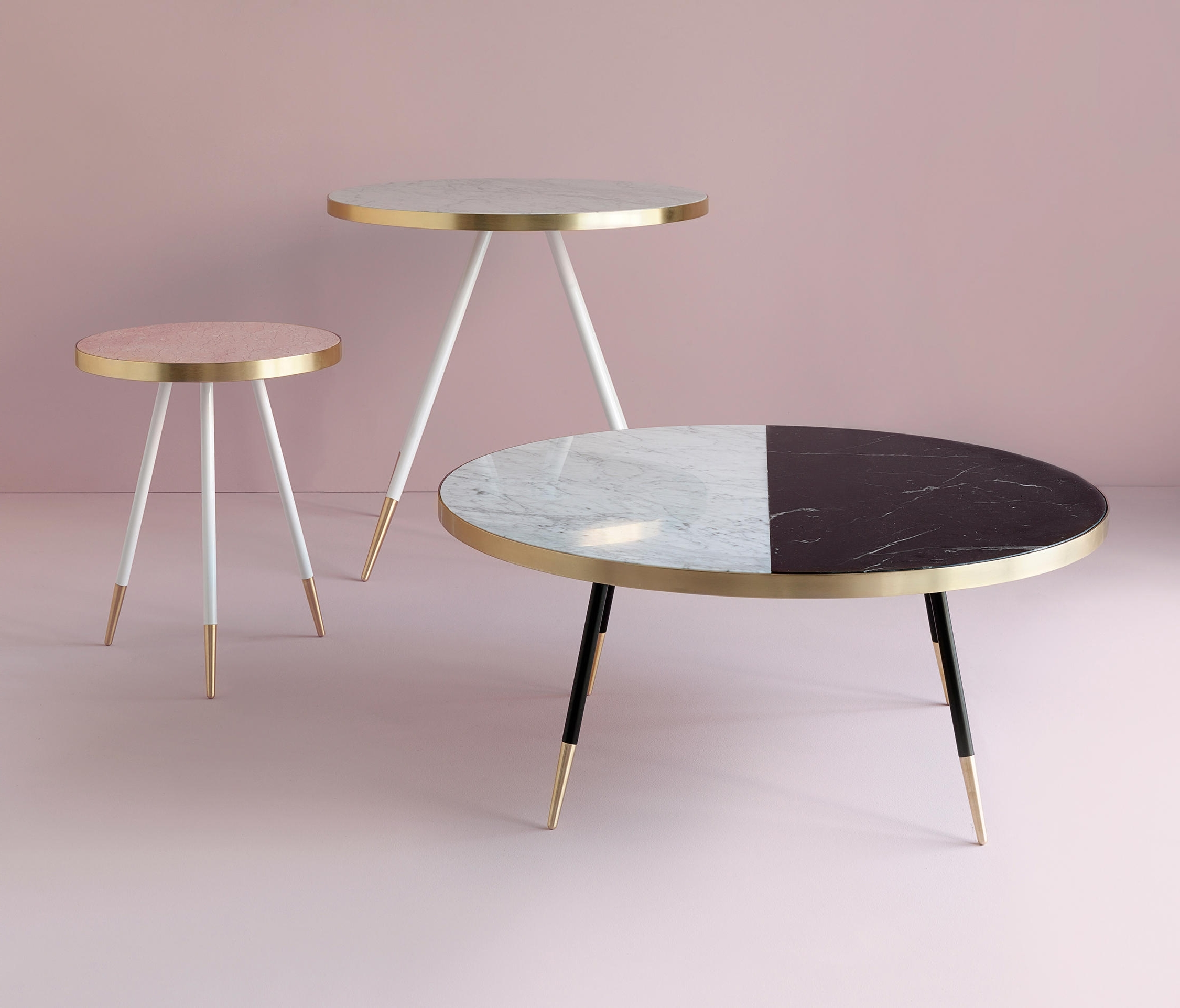 Famous 2 Tone Grey And White Marble Coffee Tables Intended For Band Marble Coffee Table – Coffee Tables From Bethan Gray (View 8 of 20)