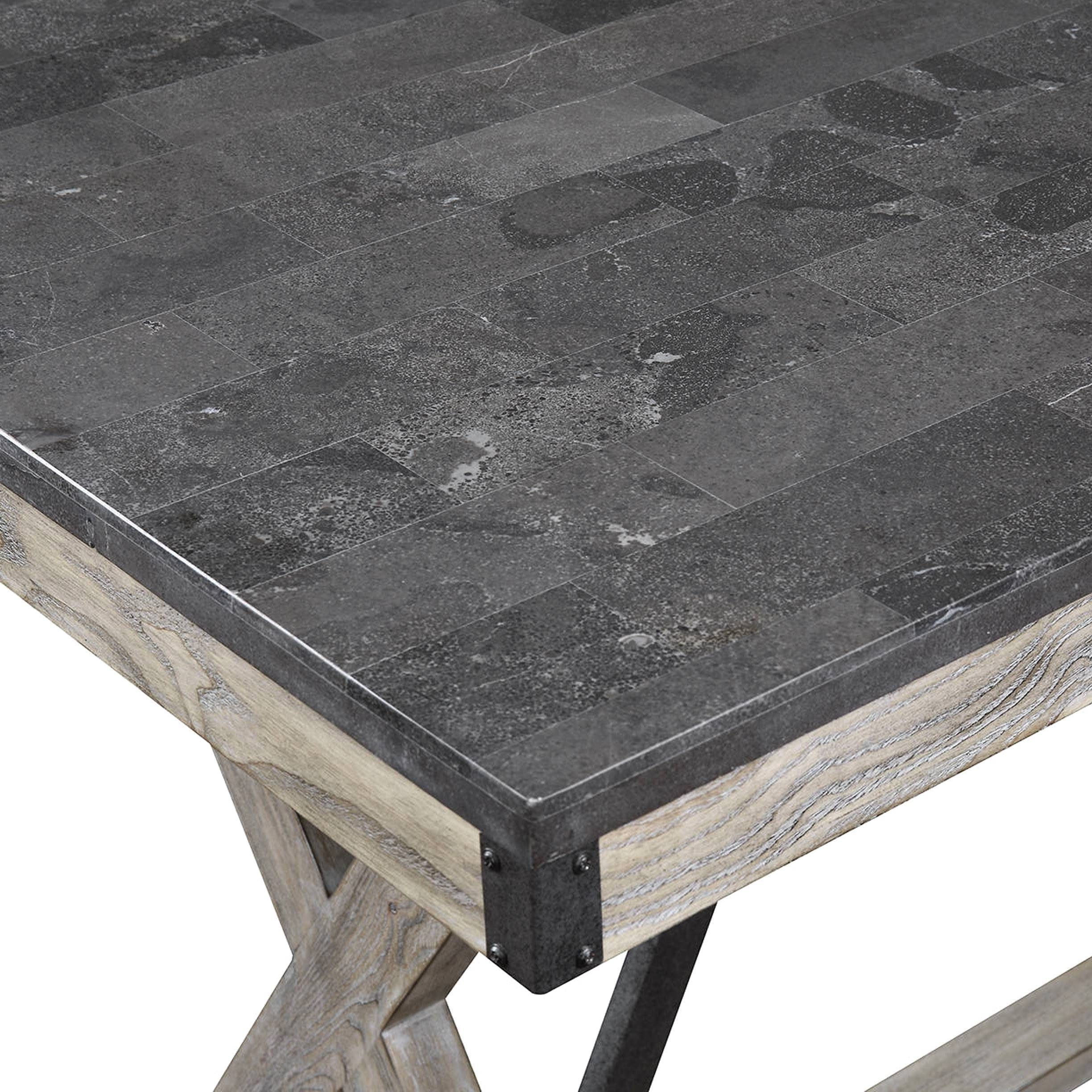 Famous Bluestone Rustic Black Coffee Tables In Mother Ideas: Bluestone Top Coffee Table, Architectural Designed (View 5 of 20)