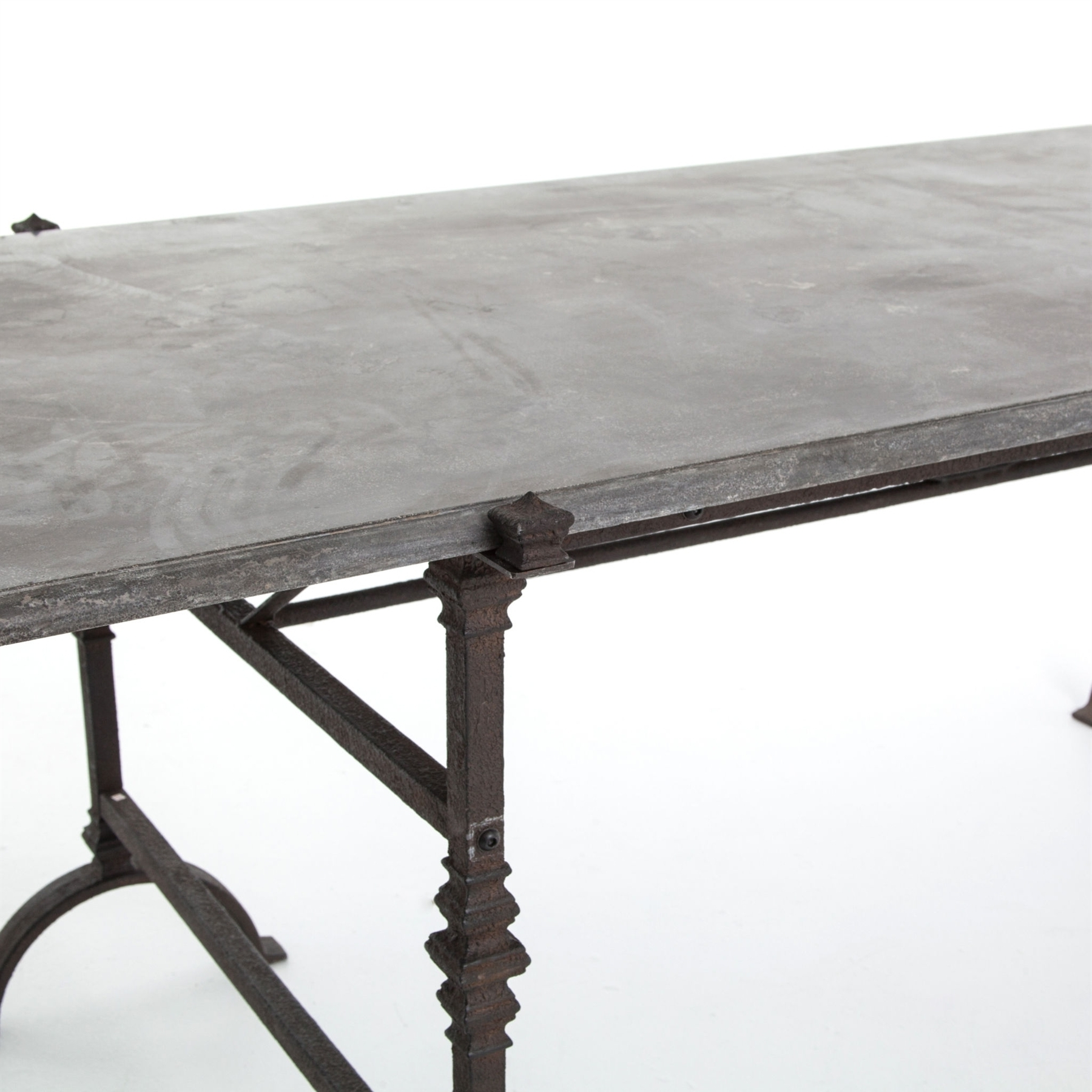 Famous Bluestone Rustic Black Coffee Tables Regarding Four Hands The Foundry Dining Table – Bluestone Top Cimp 6Aa (View 6 of 20)