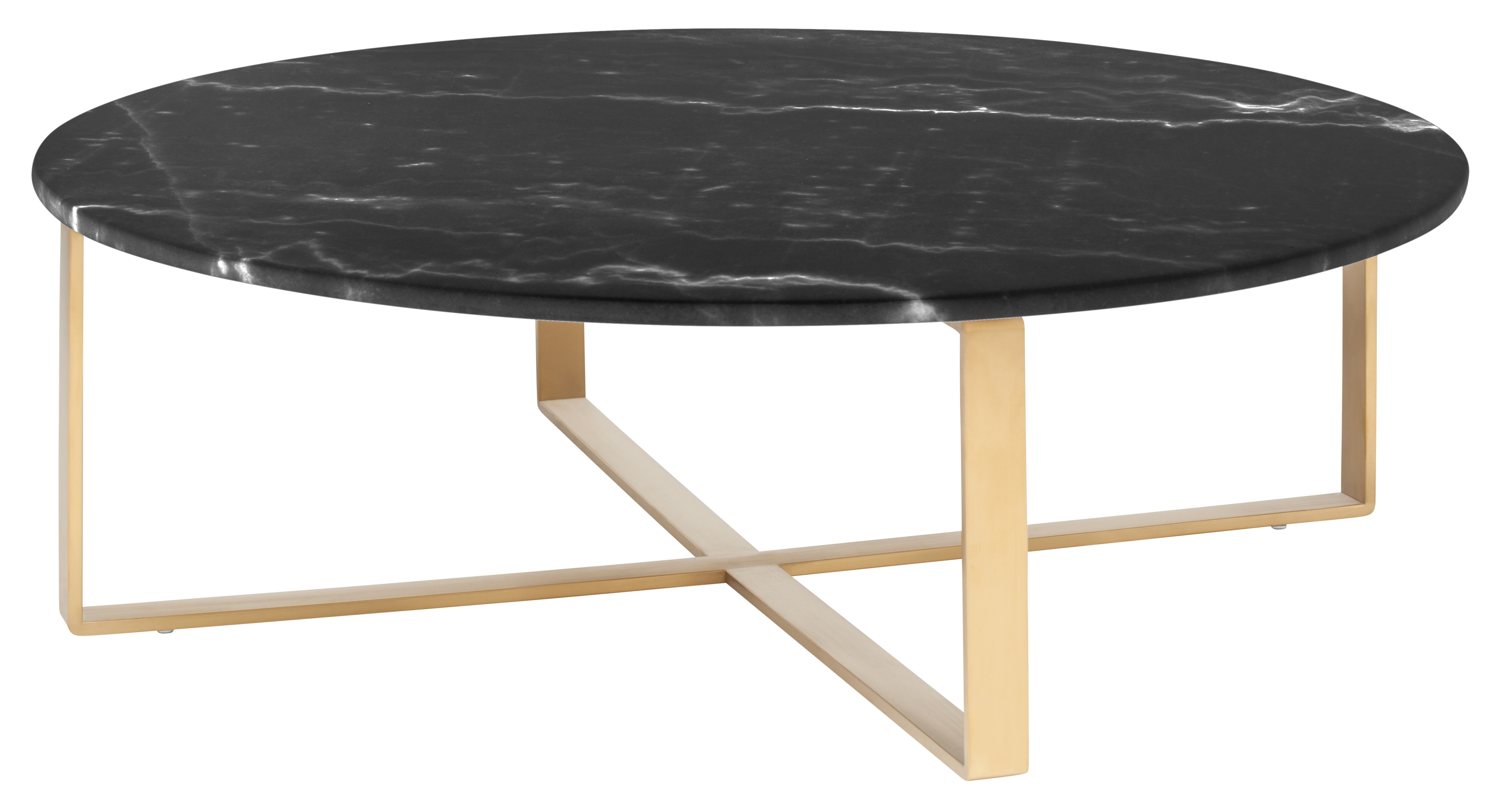 Famous Cara Cocktail Tables Inside Allie Coffee Table, Black Marble (View 8 of 20)