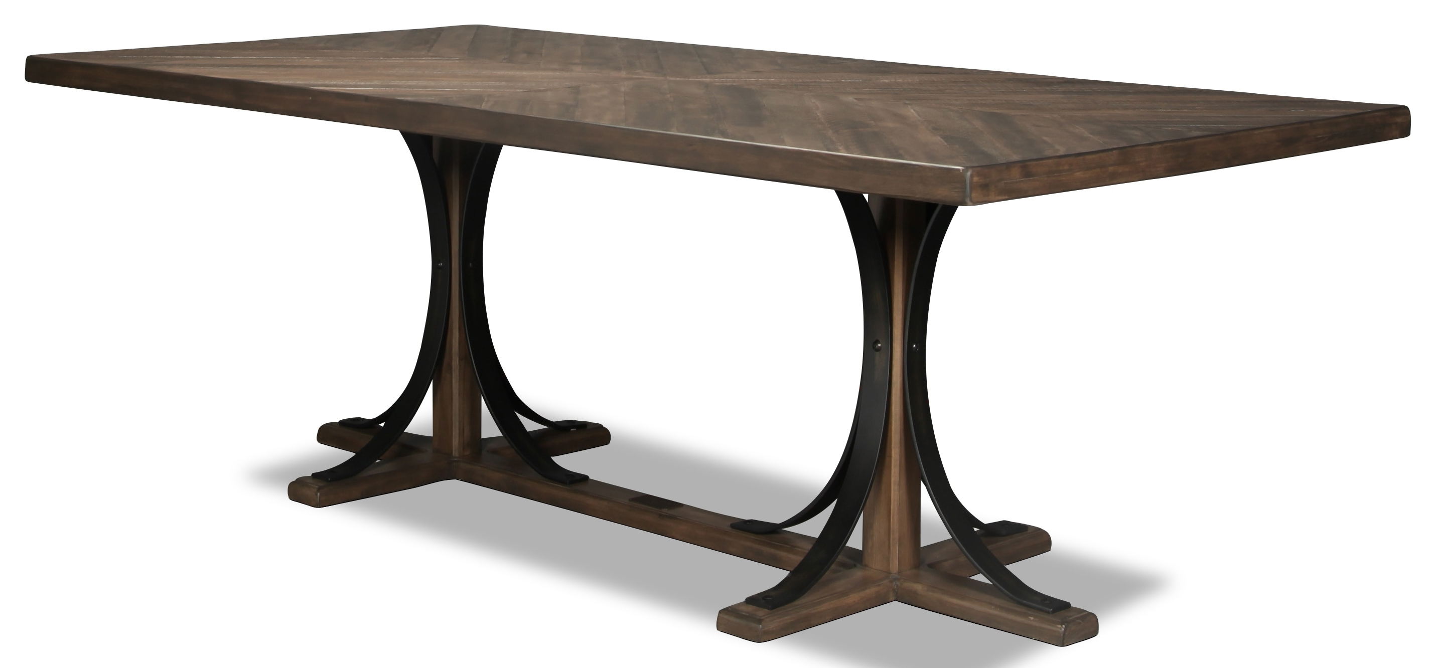 Famous Magnolia Home Iron Trestle Cocktail Tables With Magnolia Home Traditional Iron Trestle Table (View 3 of 20)