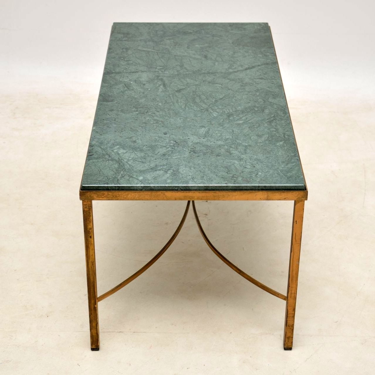 Famous Mid Century Modern Marble Coffee Tables For Antique French Marble & Brass Coffee Table (View 10 of 20)