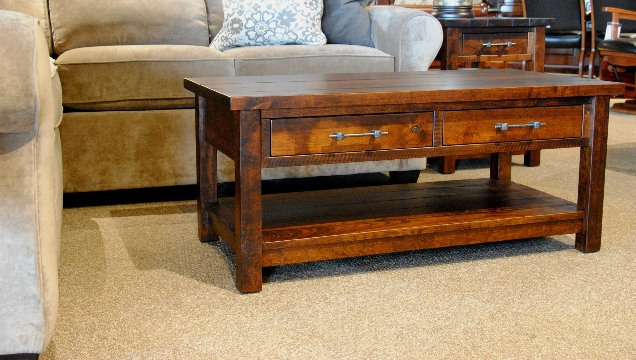 Famous Mill Coffee Tables With Regard To Timber Mill Coffee Table – Gish's Amish Legacies (View 7 of 20)