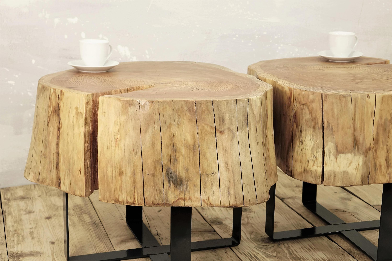 Famous Potomac Adjustable Coffee Tables Regarding All Metal Coffee Table Elegant Twin Stump Coffee Table On Metal Base (View 11 of 20)