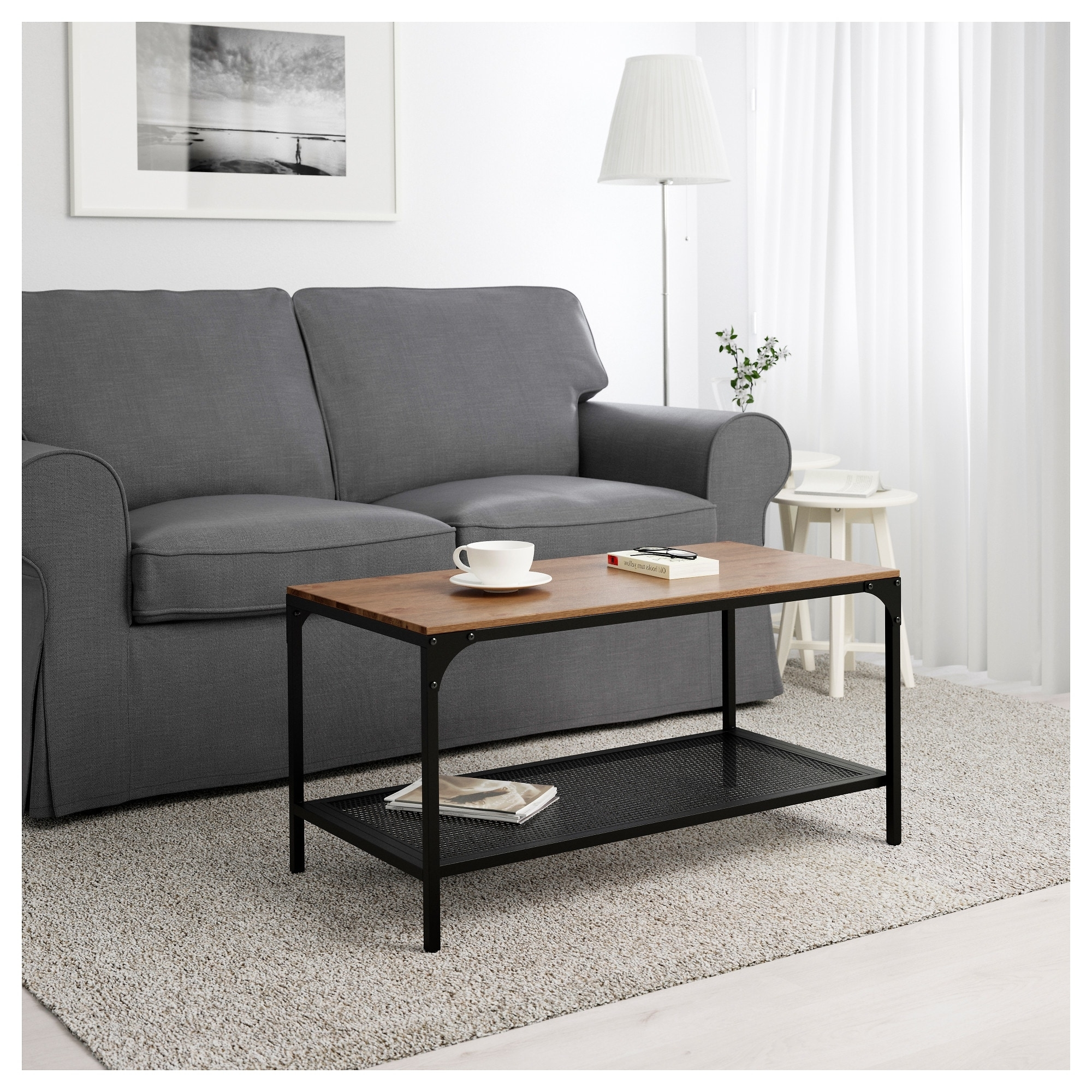 Famous Reclaimed Pine & Iron Coffee Tables For Fjällbo Coffee Table – Ikea (View 10 of 20)