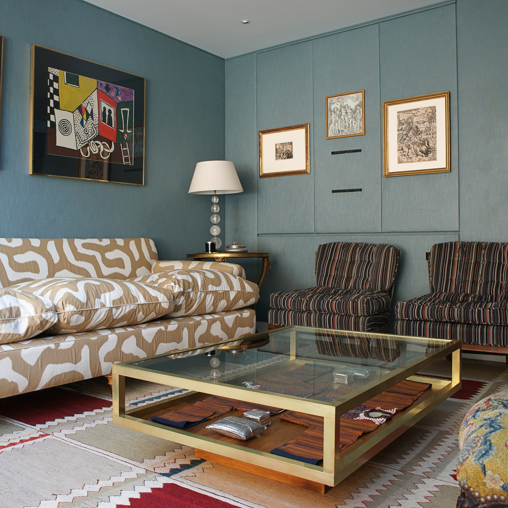 Famous Slab Large Marble Coffee Tables With Brass Base Regarding Save Or Splurge: Brass And Glass Coffee Tables (View 7 of 20)