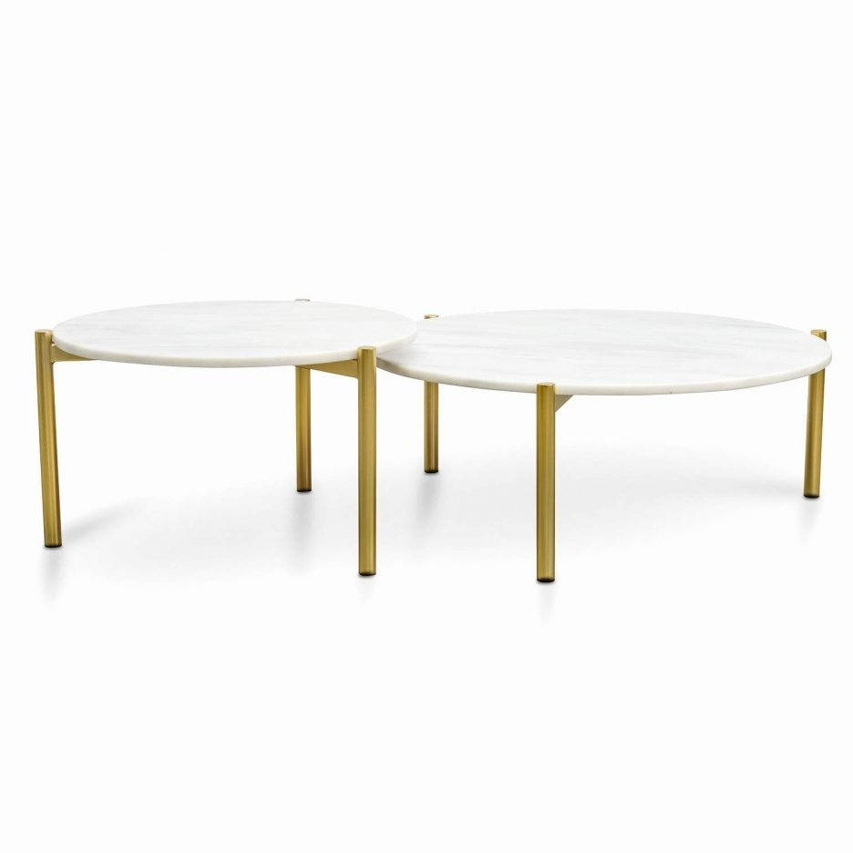 Famous Smart Round Marble Brass Coffee Tables With Regard To Marble Nest Of Tables Smart Round Marble Top Coffee Table Round (View 1 of 20)