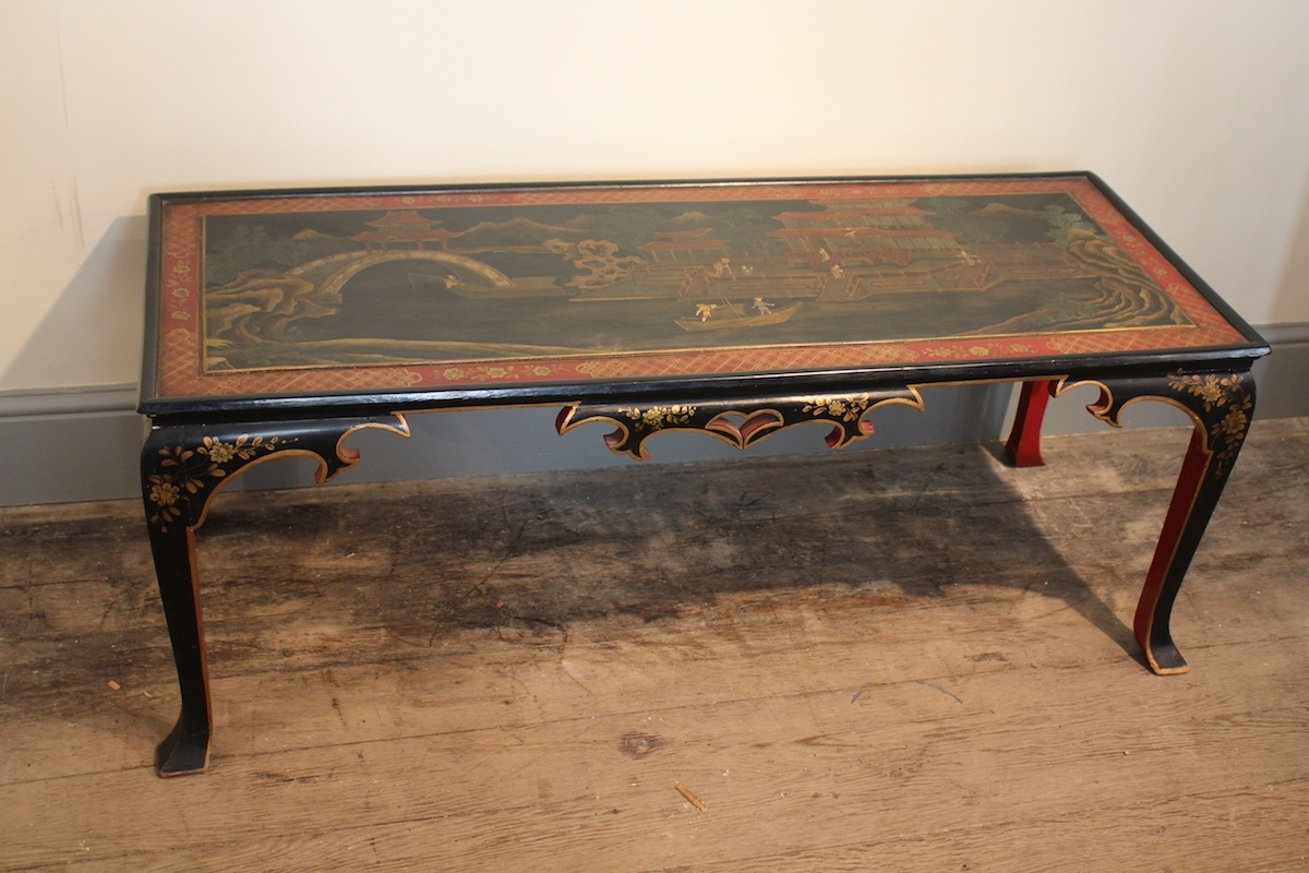Famous Spanish Coffee Tables Pertaining To 1930S Spanish Chinoiserie Coffee Table Low Tables – Damabianca (View 4 of 20)