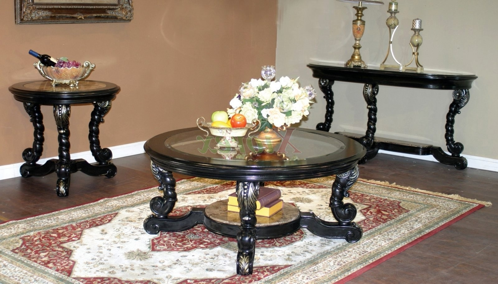 Famous Stack Hi Gloss Wood Coffee Tables For Decor Of Round Glass Coffee Table Sets With Stacking Round Glass (View 5 of 20)