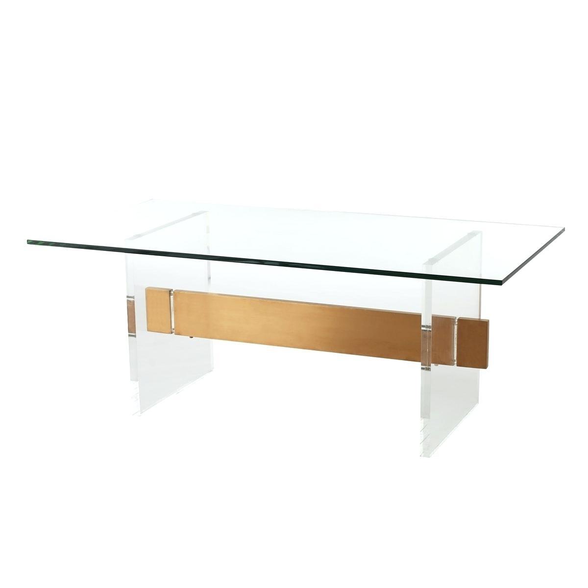 Fashionable Acrylic & Brushed Brass Coffee Tables Within Glass Brass Coffee Table Acrylic Brushed Brass Coffee Table Glass (View 2 of 20)
