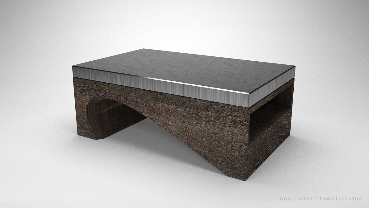 Fashionable Contemporary Curves Coffee Tables For Contemporary Solid Curve Bottom Coffee Table – Interior Designer (View 4 of 20)