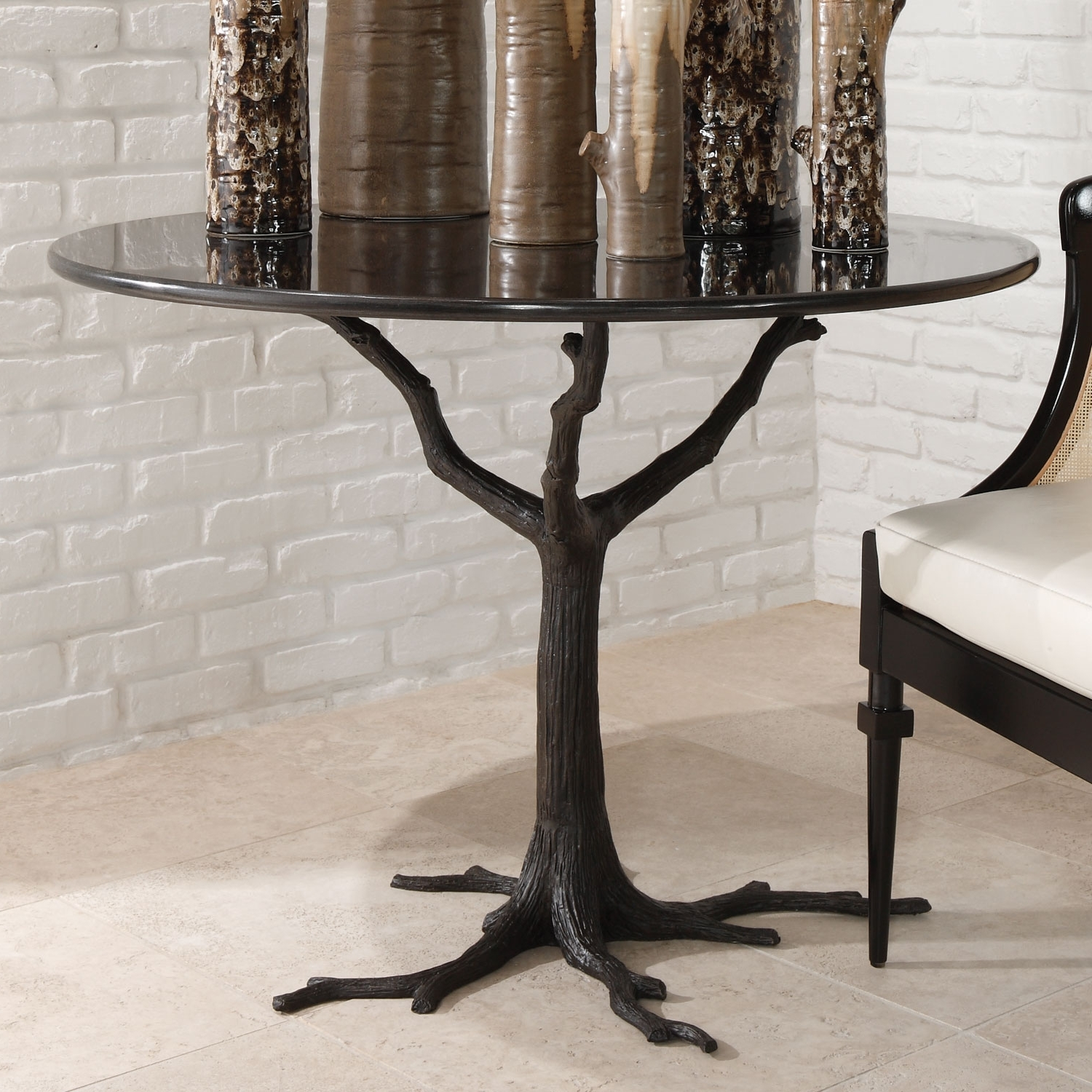 Fashionable Faux Bois Coffee Tables With Regard To Global Views Faux Bois Dining Table  (View 11 of 20)
