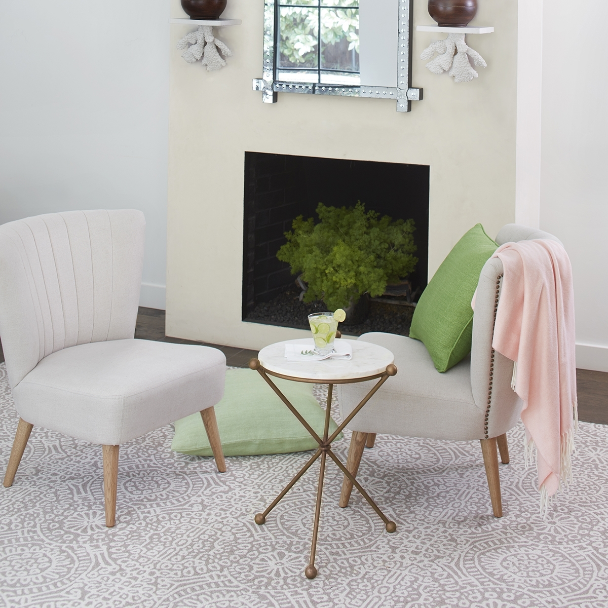 Fashionable Jackson Marble Side Tables Inside Modern Marble & Iron Side Table (View 19 of 20)